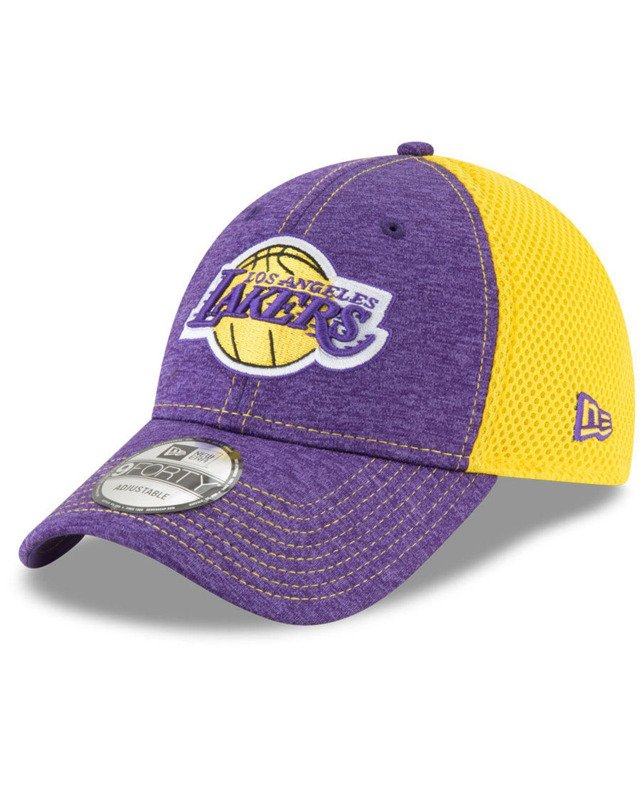 online store 8ed61 5127e Lyst - KTZ Los Angeles Lakers Shadow Turn 2 Adjustable Cap in Purple ...