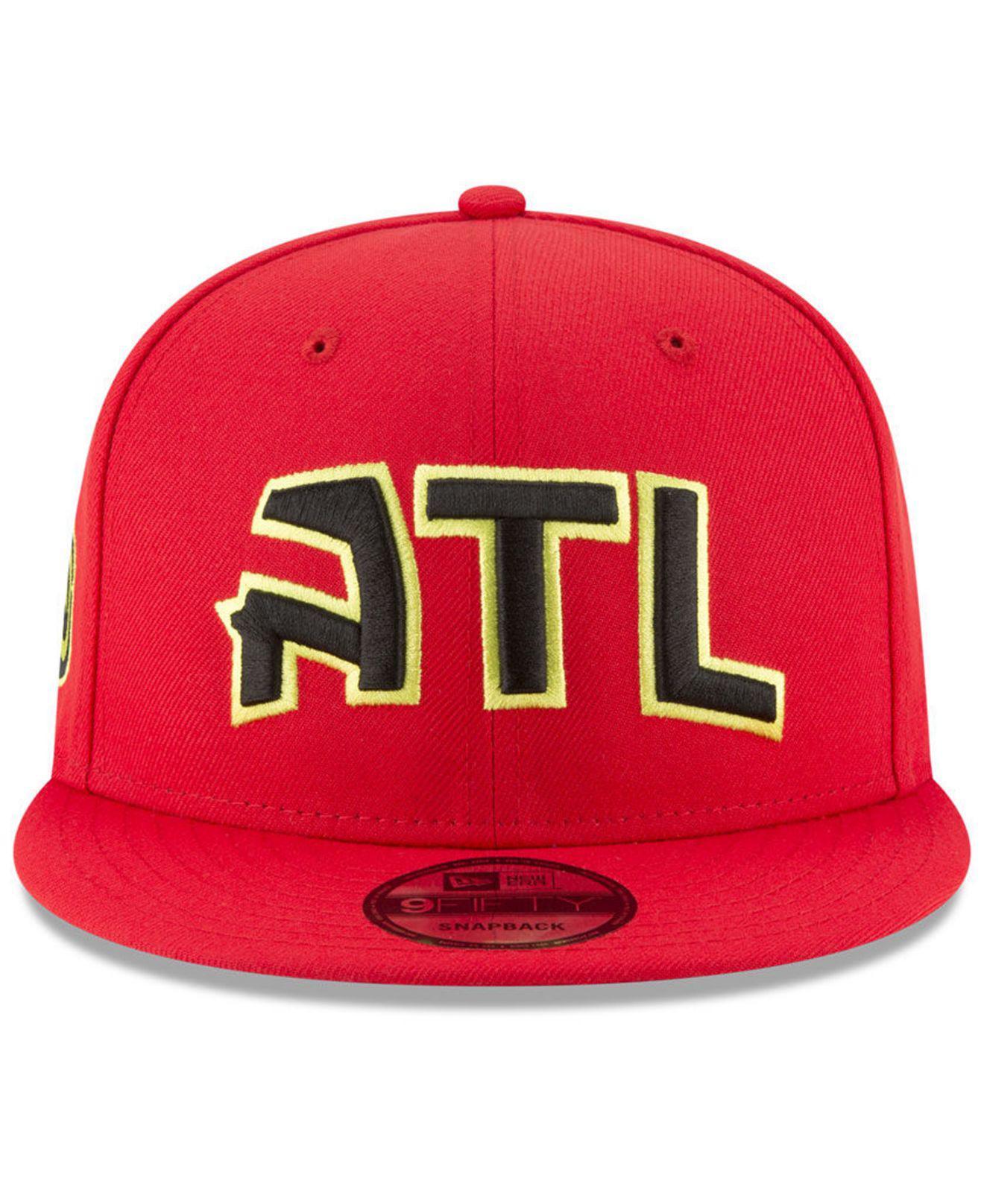 on sale 2b159 ee742 Lyst - KTZ Atlanta Hawks Statement Jersey Hook 9fifty Snapback Cap in Red  for Men