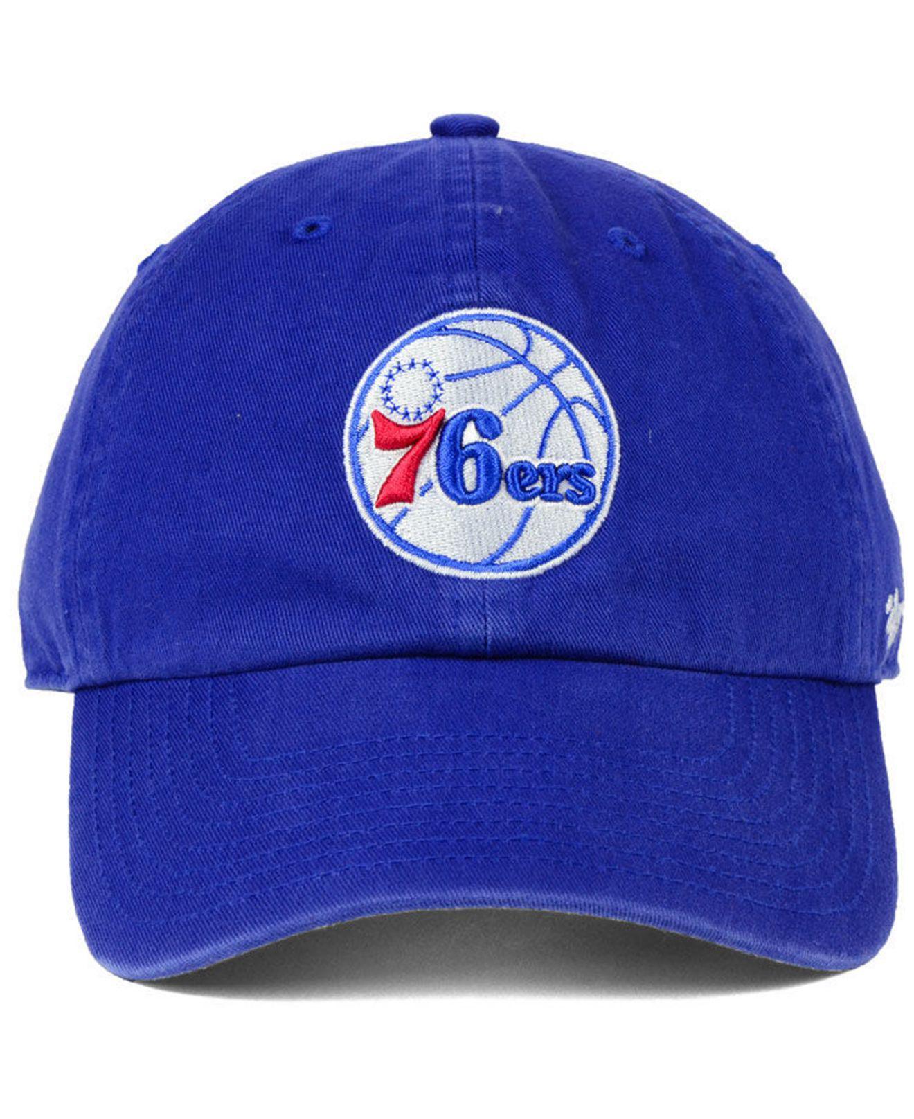 e1f97808d2ef9 47 Brand Philadelphia 76ers Clean Up Cap in Blue for Men - Lyst