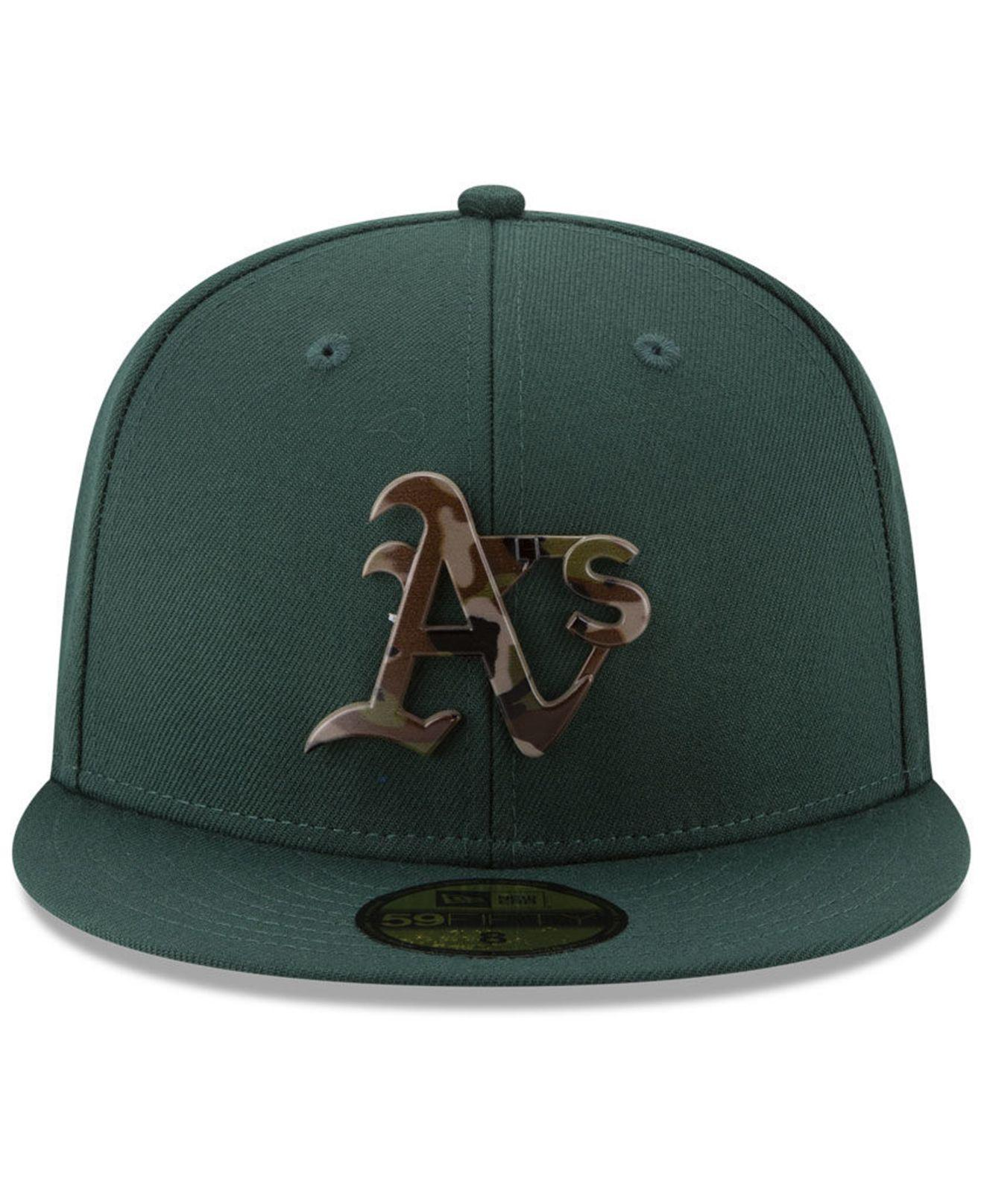 Lyst - Ktz Oakland Athletics Camo Capped 59fifty-fitted Cap in Green for Men ce4184d27430