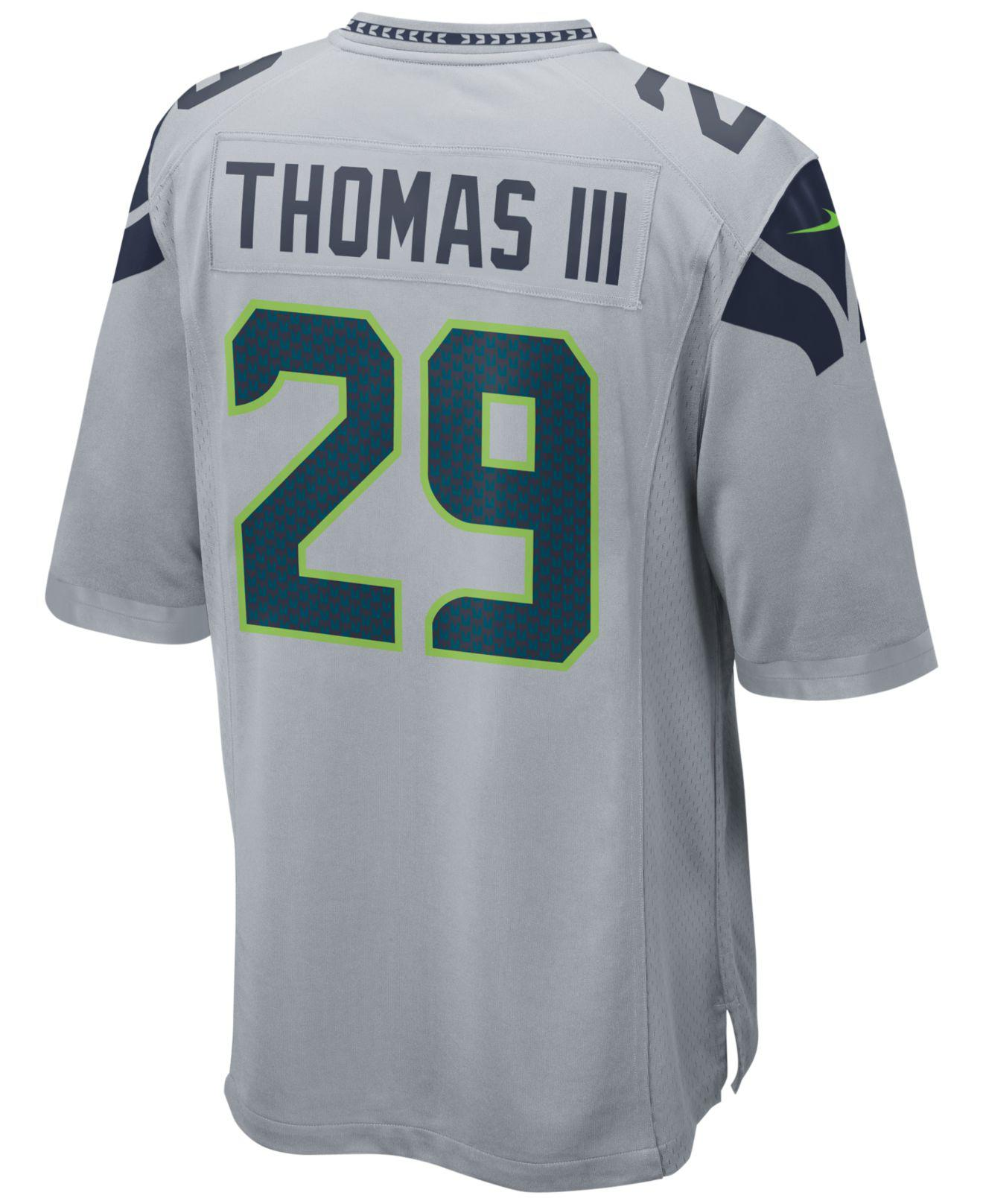 Lyst - Nike Men s Earl Thomas Seattle Seahawks Game Jersey in Green ... 848ba1665