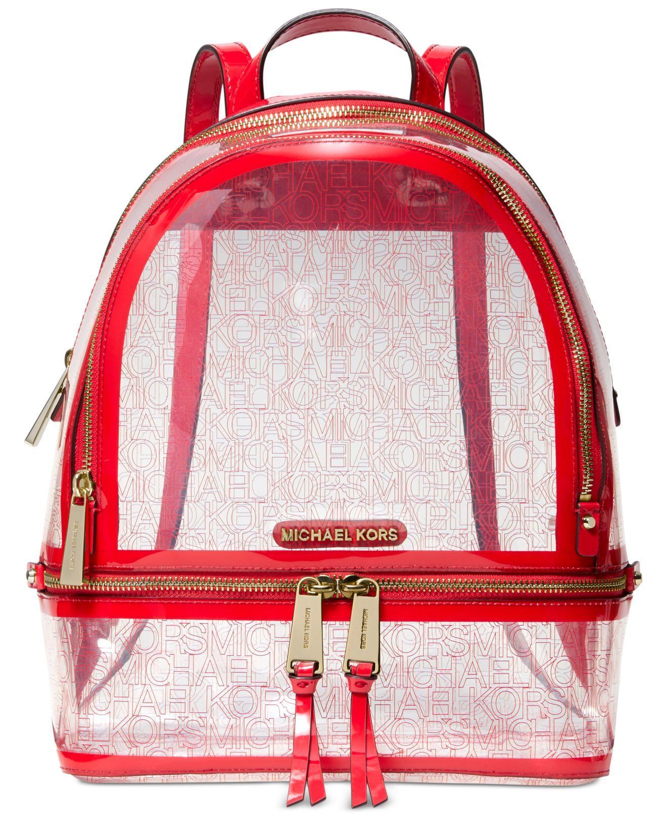 85378c96d887 Michael Kors - Red Michael Rhea Zip Backpack - Lyst. View fullscreen