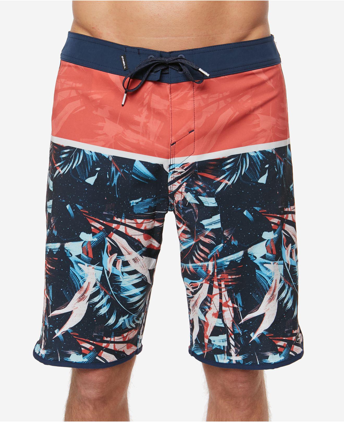 86d1155b1f O'neill Sportswear. Men's Blue Hyperfreak Ruins Colorblocked Tropical-print  20