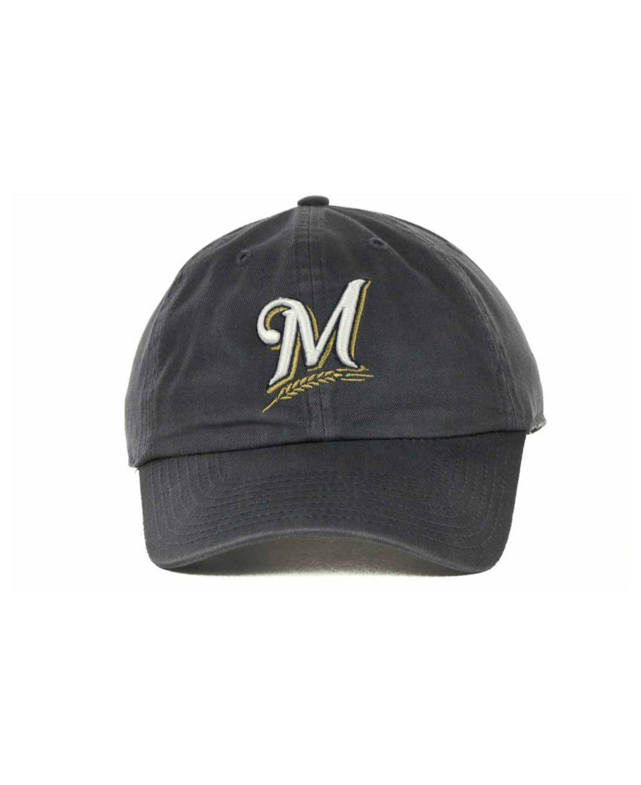 Lyst - 47 Brand Milwaukee Brewers Mlb Clean Up Cap in Blue for Men fcc44331433b