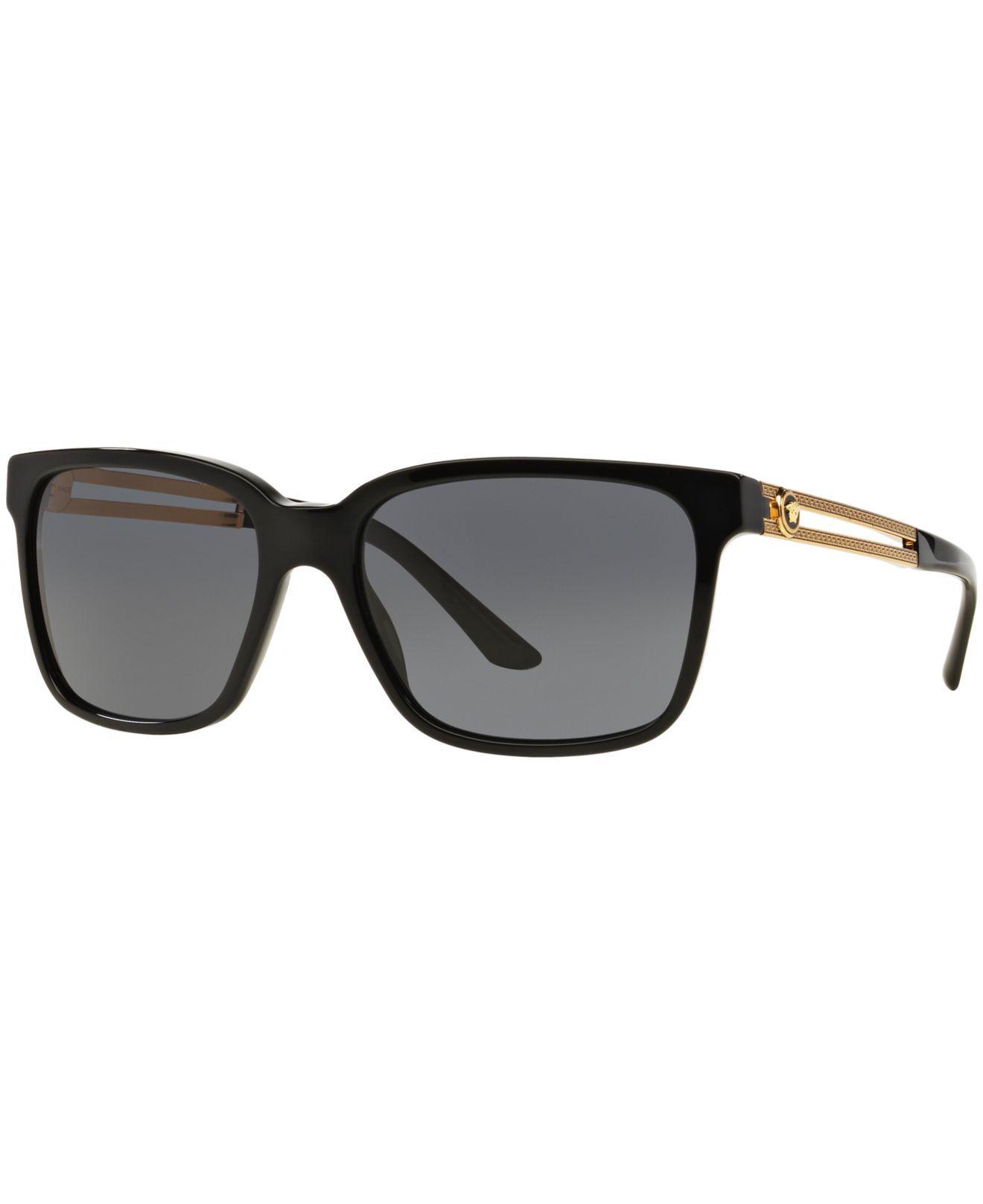 c909700161 Versace. Men s Black Sunglasses ...