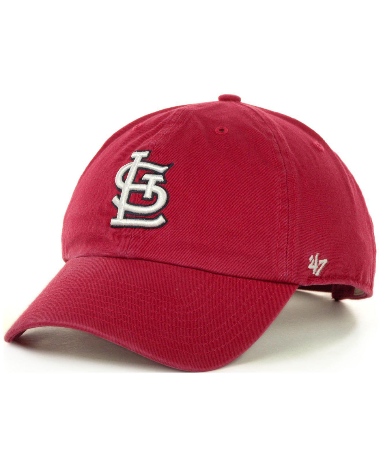buy online f9456 8d248 ... black white 59fifty cap 20814117 2018 new 7a006 ac8d5  aliexpress lyst  47 brand st. louis cardinals clean up hat in red for men c5d96