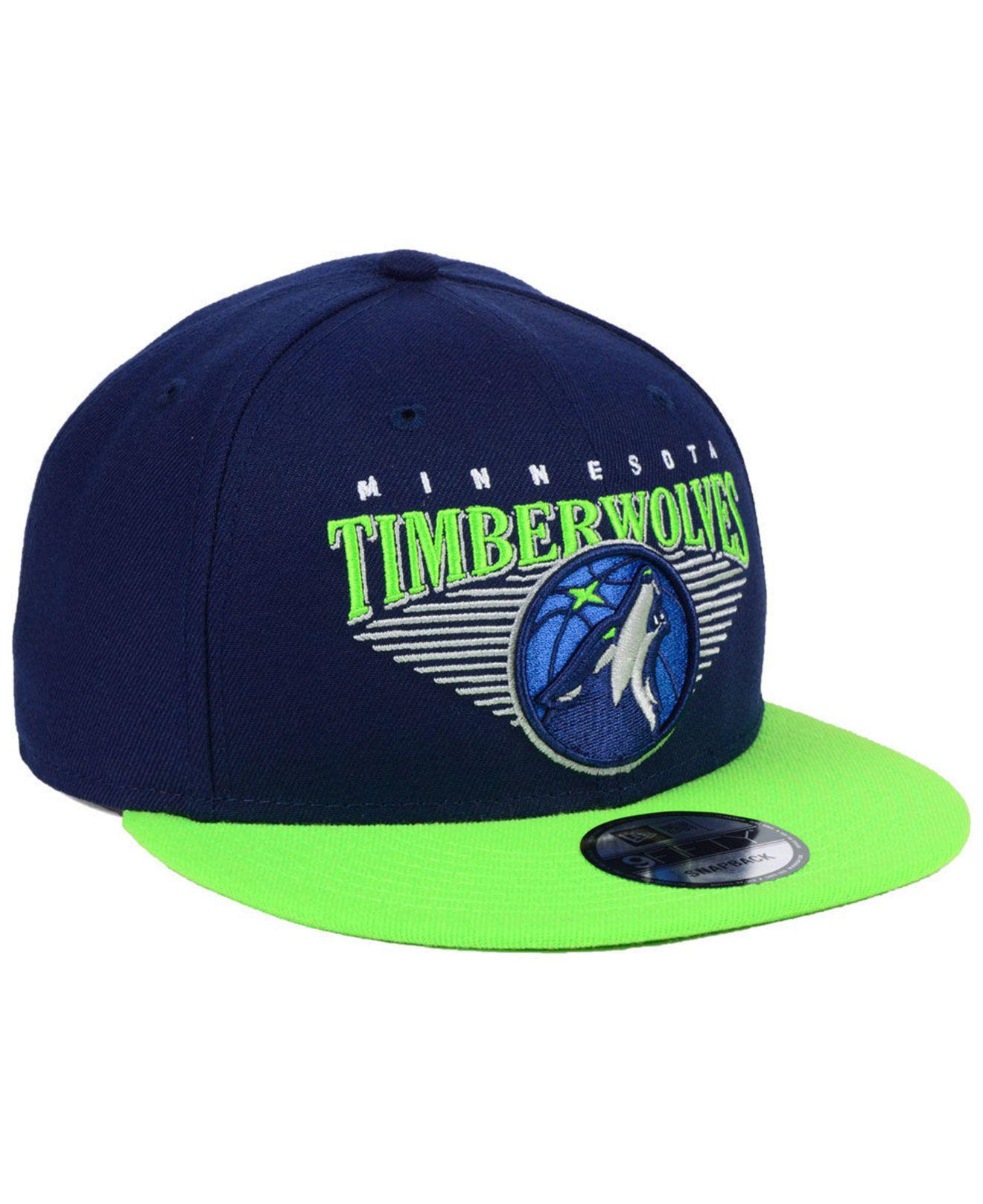 5fad797f8dd504 ... Minnesota Timberwolves Retro Triangle 9fifty Snapback Cap for Men -  Lyst. View fullscreen