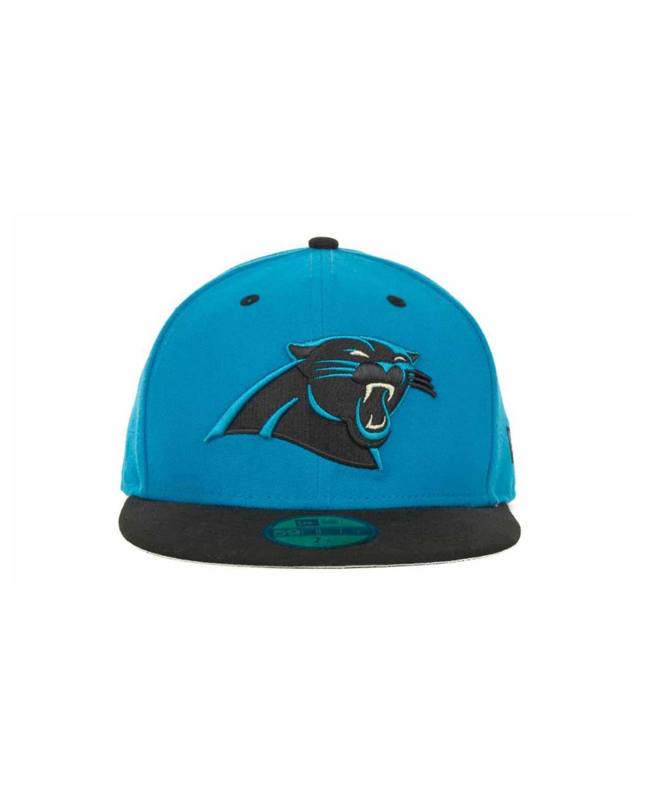 Lyst - KTZ Carolina Panthers 2 Tone 59fifty Fitted Cap in Black for Men b02931fe9