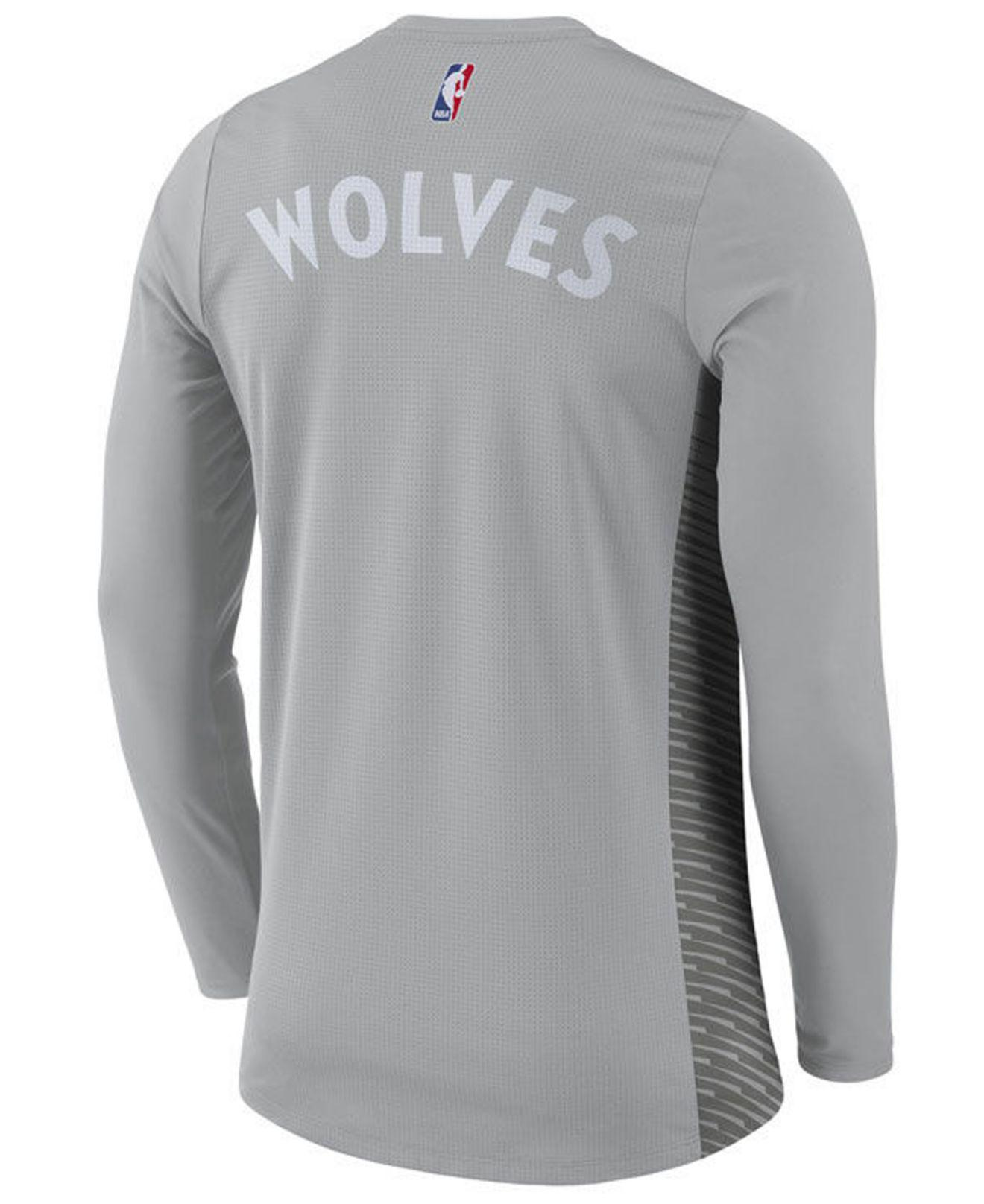 078537d0a568 Lyst - Nike Minnesota Timberwolves City Edition Shooting Shirt in ...