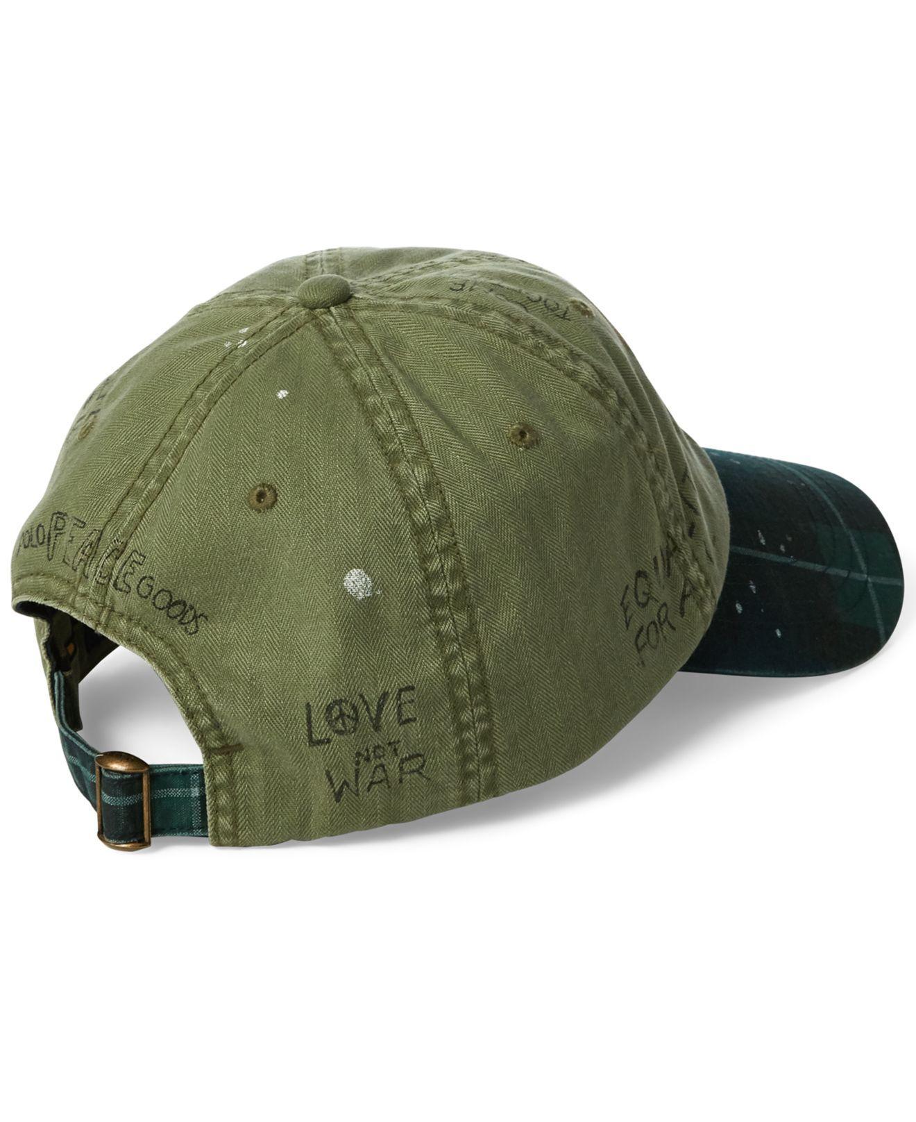 Lyst - Polo Ralph Lauren Paint-splatter Crested Cap in Green for Men 2a69ddf6ccf9