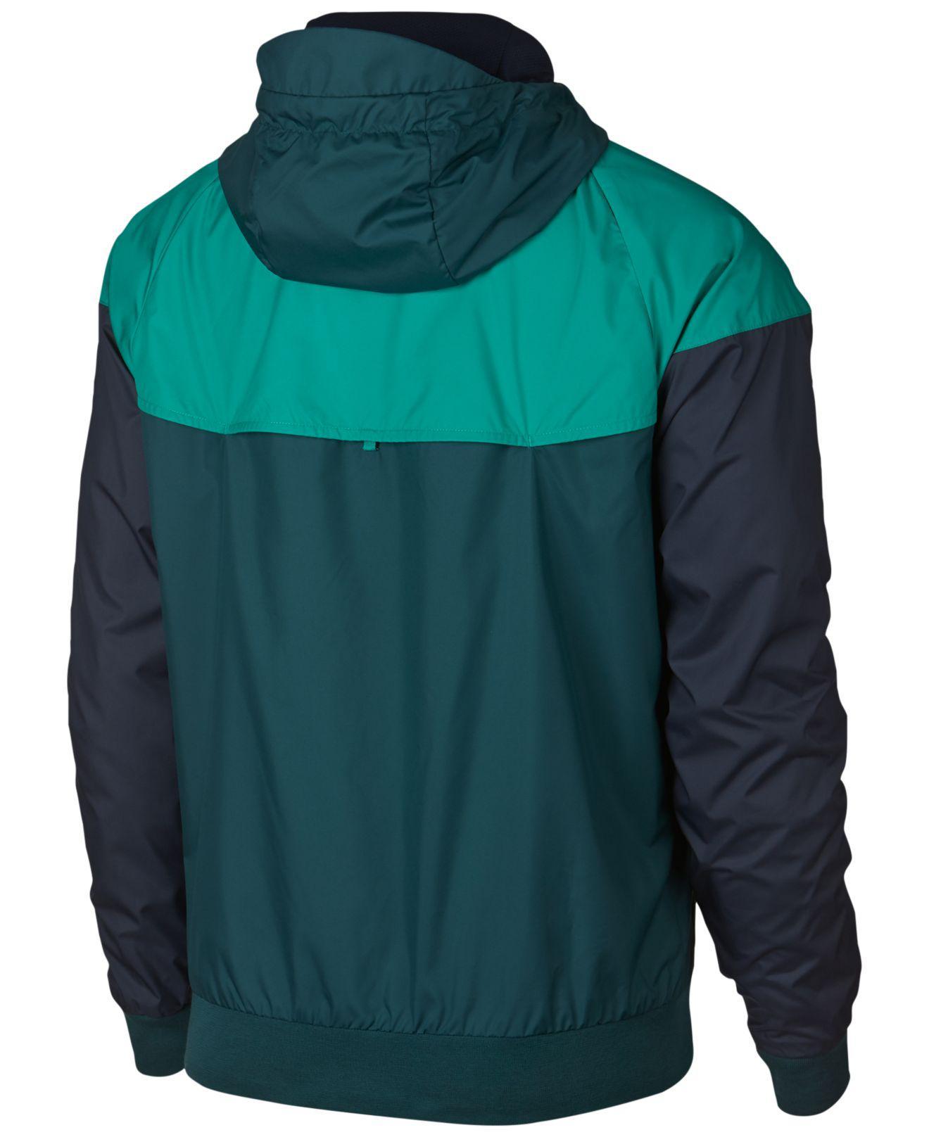 77759ca51e Lyst - Nike Windrunner Full Zip Jacket in Green for Men