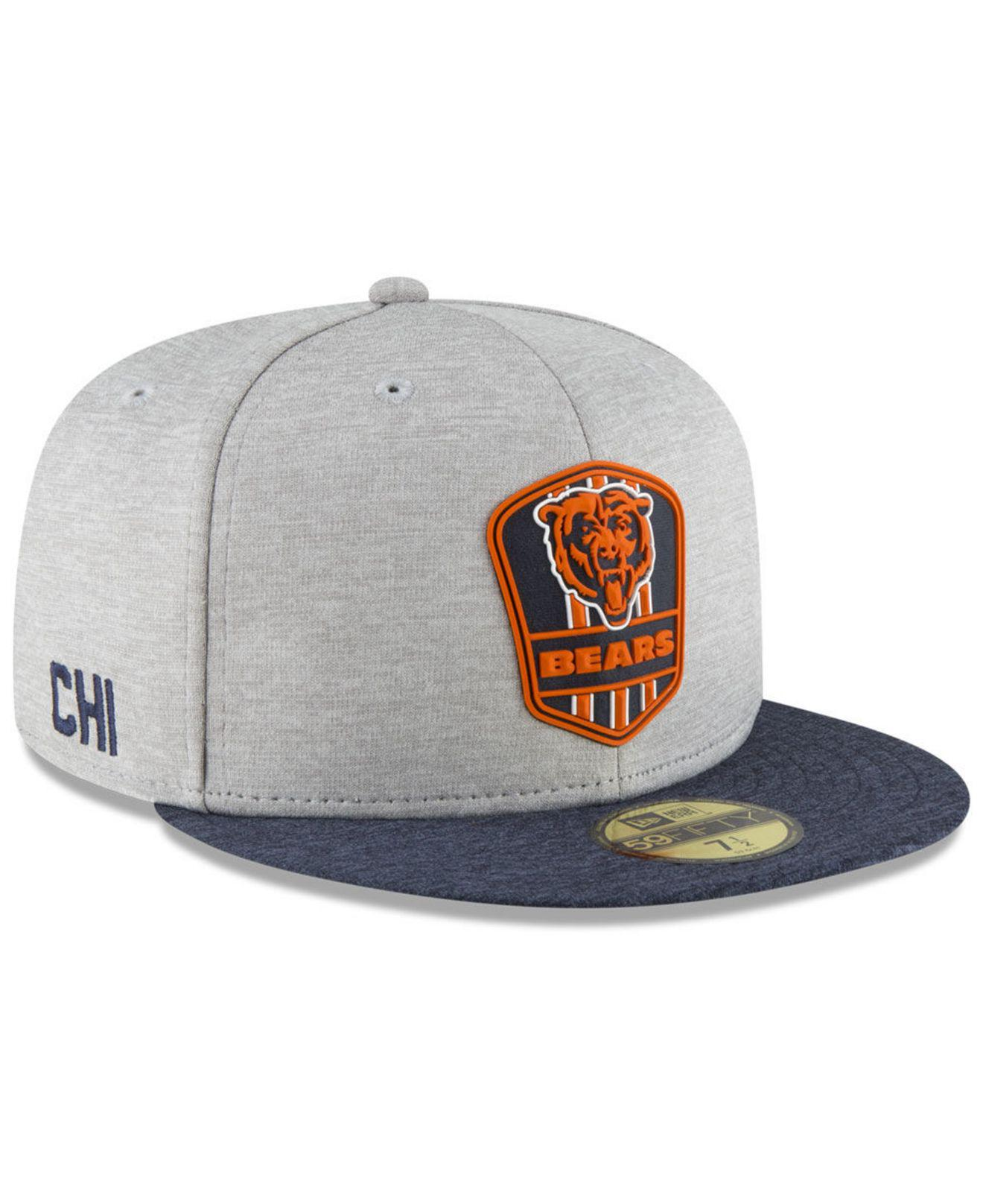 classic fit 35187 4d87e Lyst - KTZ Chicago Bears On Field Sideline Road 59fifty Fitted Cap ...