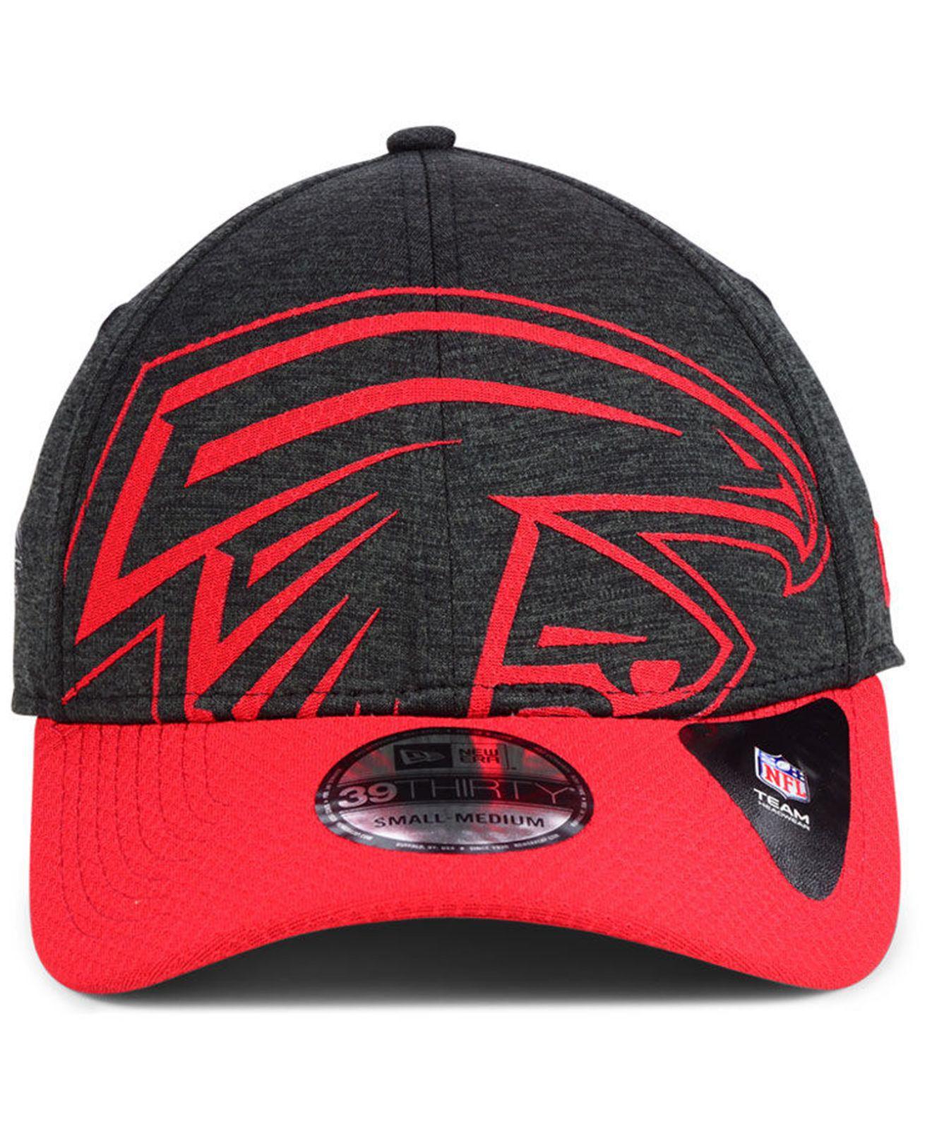 Lyst - KTZ Atlanta Falcons Oversized Laser Cut Logo 39thirty Cap in Red for  Men f7e428b335b8