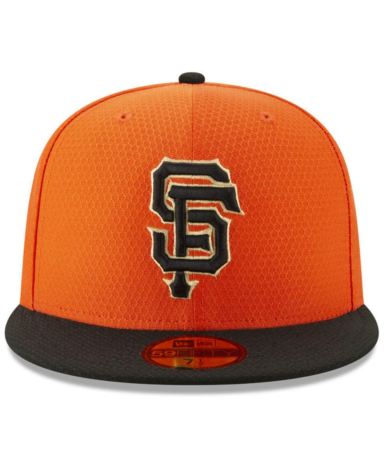 new product 6e936 ae692 Lyst - KTZ San Francisco Giants Batting Practice 59fifty-fitted Cap in  Orange for Men