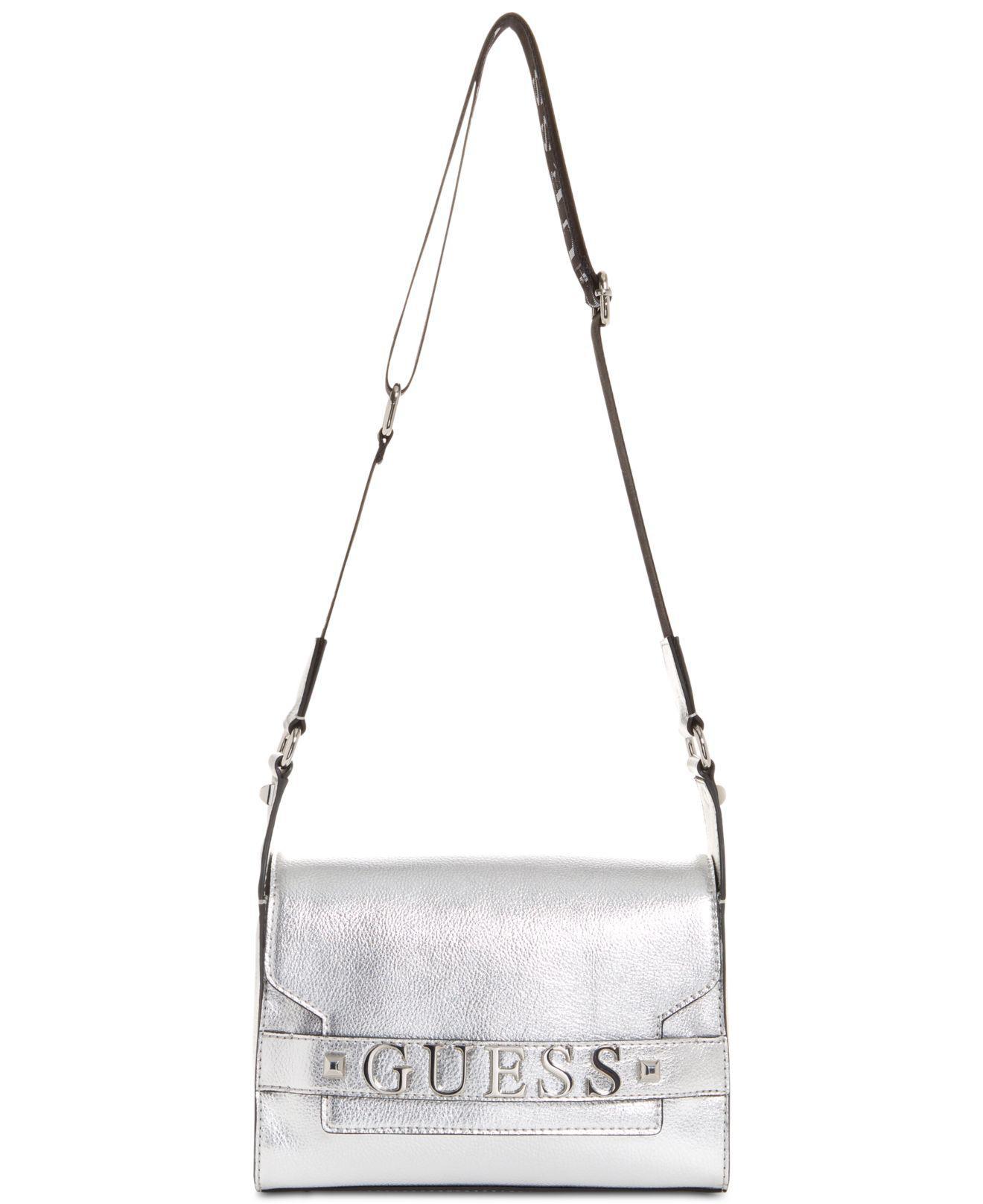 Lyst - Guess Felix Shoulder Bag in Metallic 875c887ba87fe