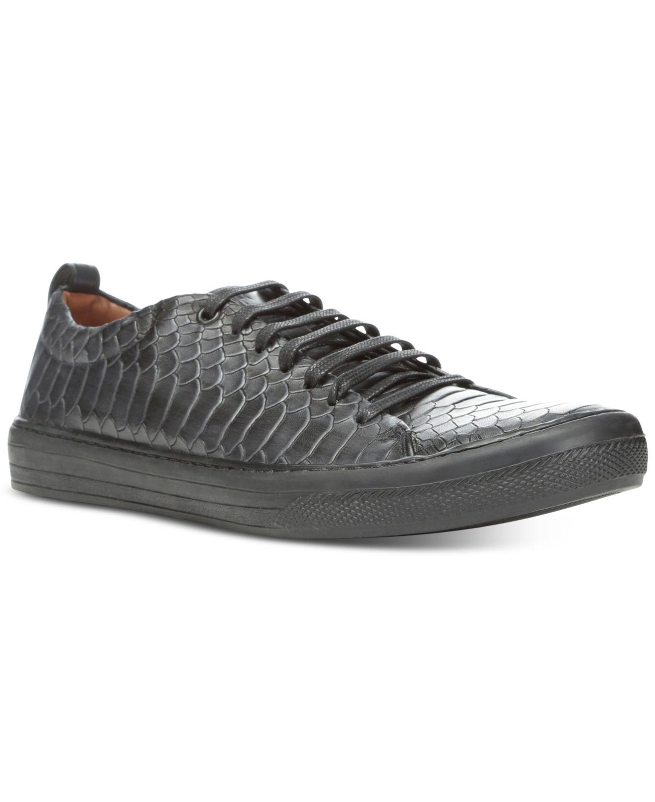 Donald J Pliner. Blue Men's Rand Vintage Python Sneakers