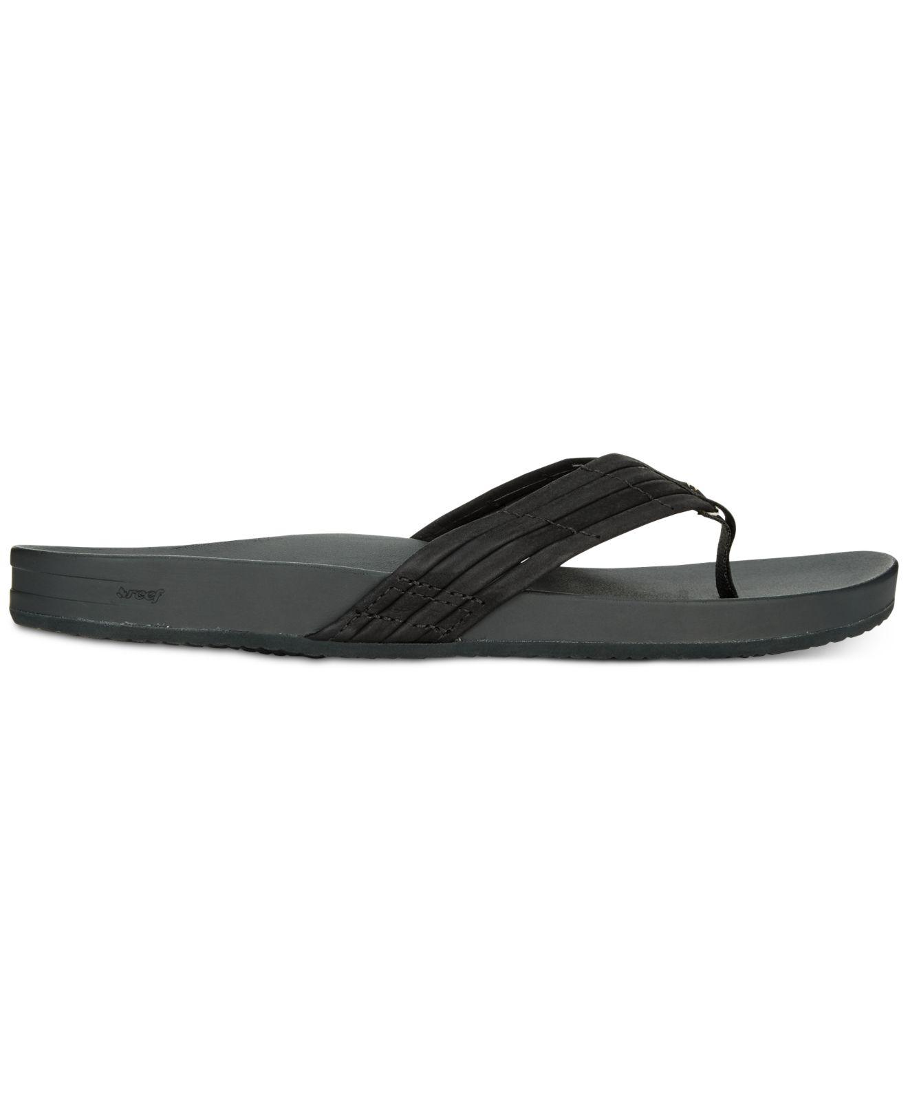 88c435952f09 Reef Cushion Bounce Sunny Flip-flop Sandals in Black - Lyst