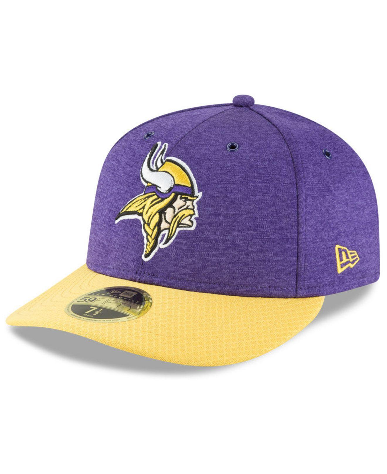15c0b6df Lyst - Ktz Minnesota Vikings On Field Low Profile Sideline Home ...