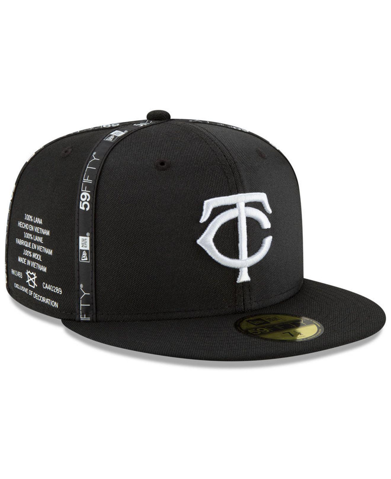 Lyst - KTZ Minnesota Twins Inside Out 59fifty-fitted Cap in Black ... 9b242313e2a6