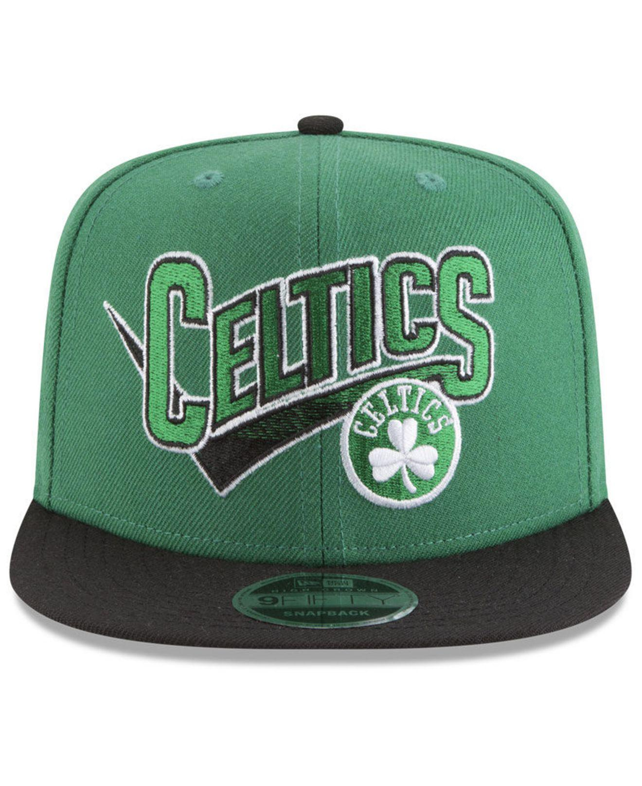 best sneakers e6d2b a5083 ... best price lyst ktz boston celtics retro tail 9fifty snapback cap in  green for men 9b344