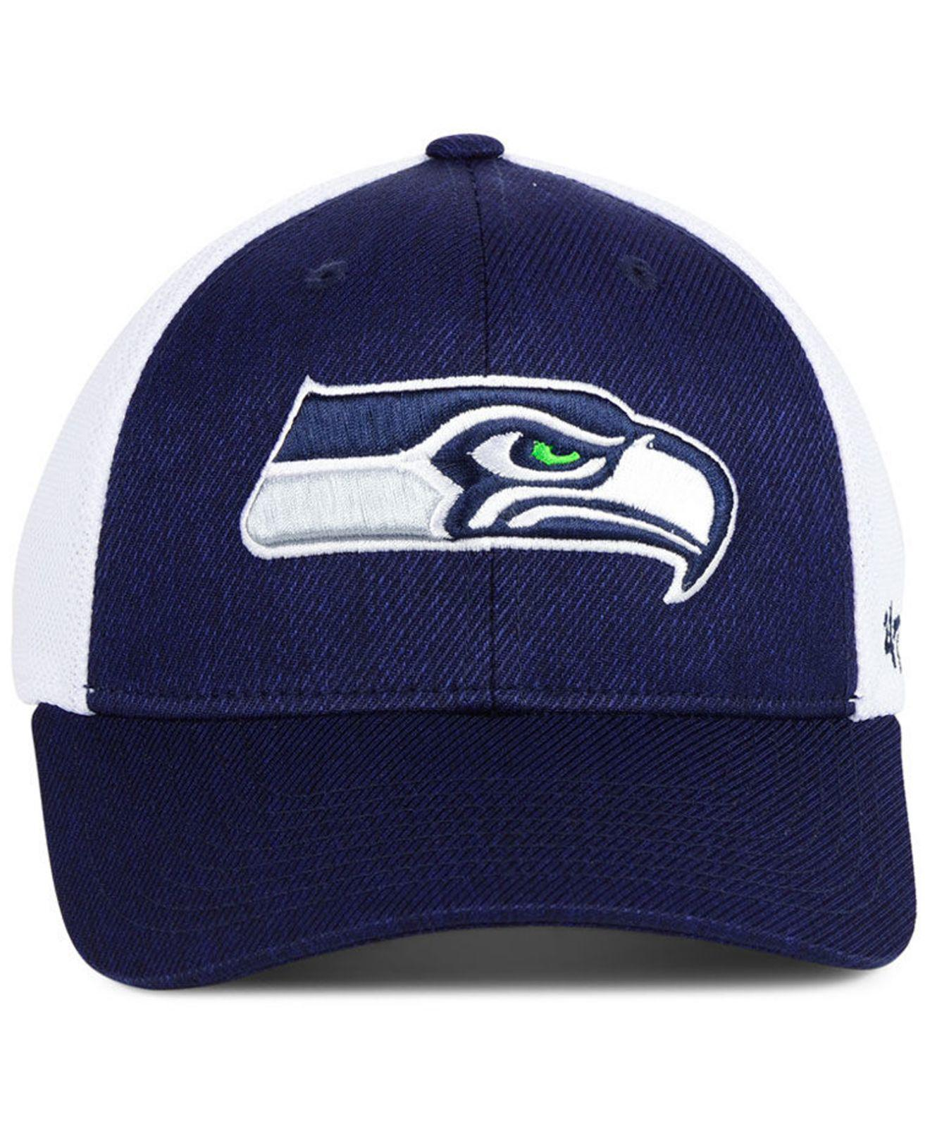 official photos f446a 53da9 Lyst - 47 Brand Seattle Seahawks Hazy Flex Contender Stretch Fitted Cap in  Blue for Men