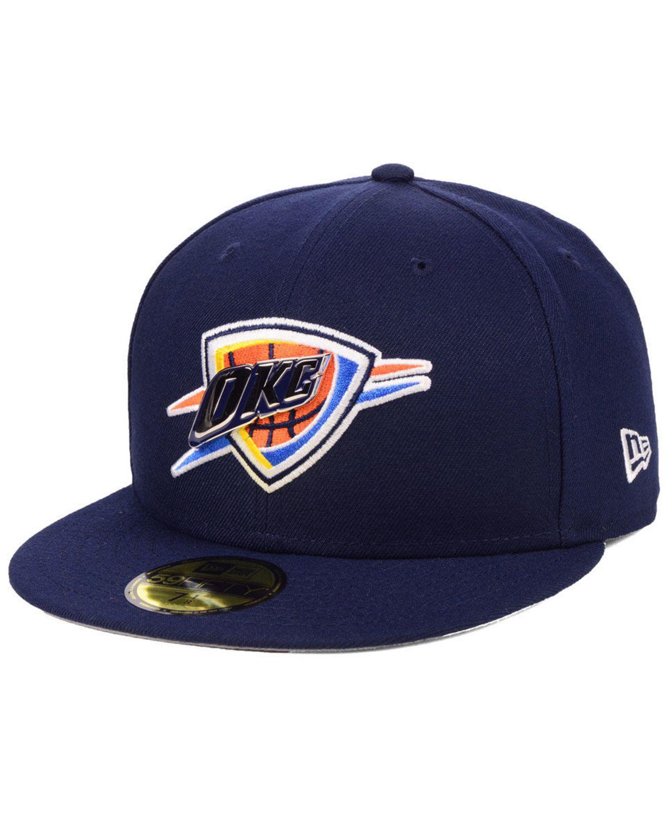 half off e32aa ffbf3 ... closeout ktz. mens blue oklahoma city thunder metal mash up 59fifty  fitted cap b88fc 0c879