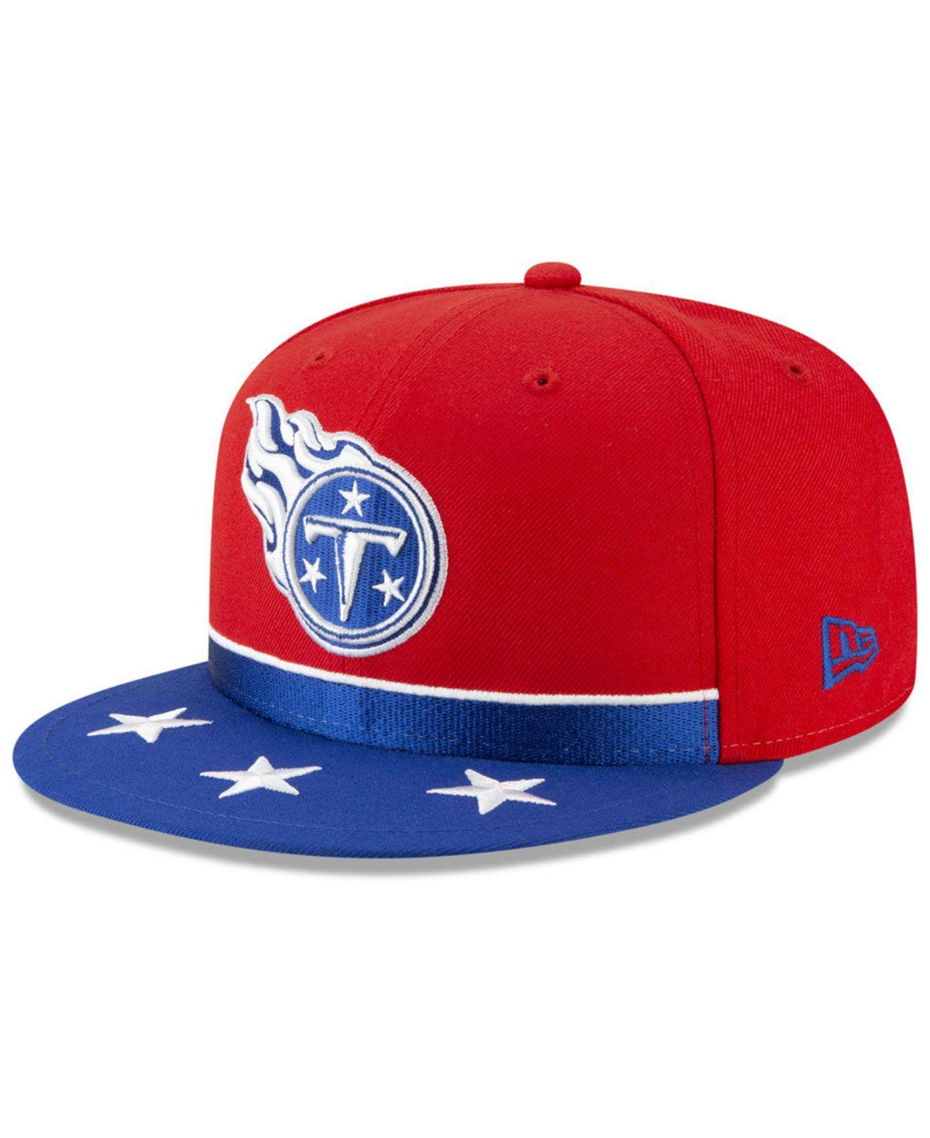 new product 1eaf3 63844 KTZ. Men s Red Tennessee Titans Draft Spotlight 59fifty-fitted Cap