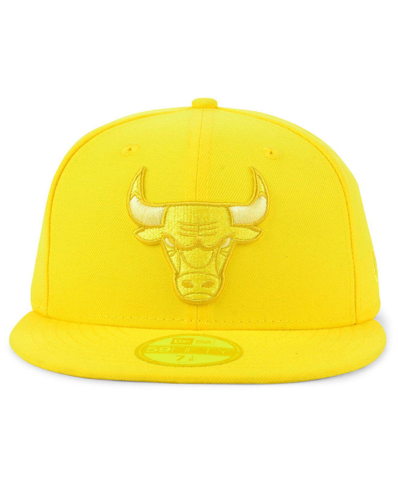 f3759229fbc Lyst - KTZ Chicago Bulls Color Prism Pack 59fifty Cap in Yellow for Men
