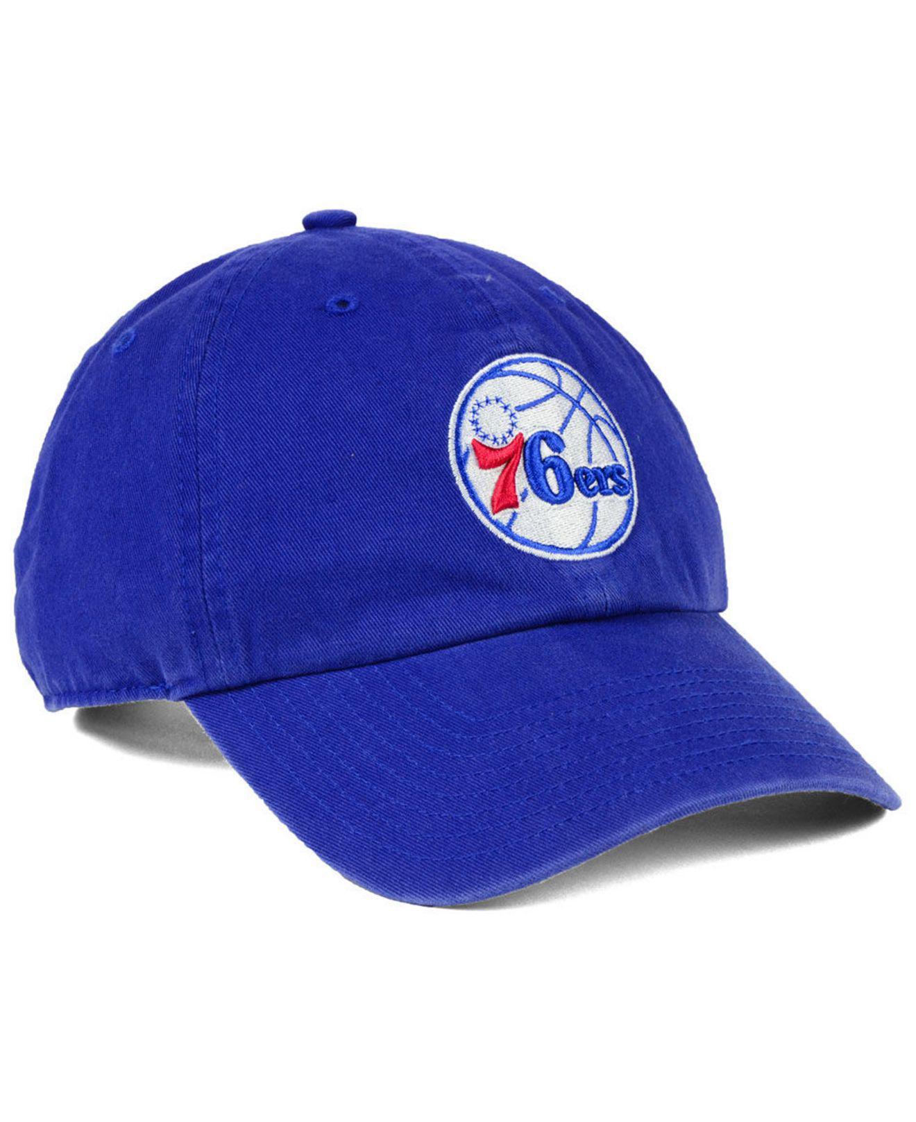 47 Brand - Blue Philadelphia 76ers Clean Up Cap for Men - Lyst. View  fullscreen 8d35ec036cd0