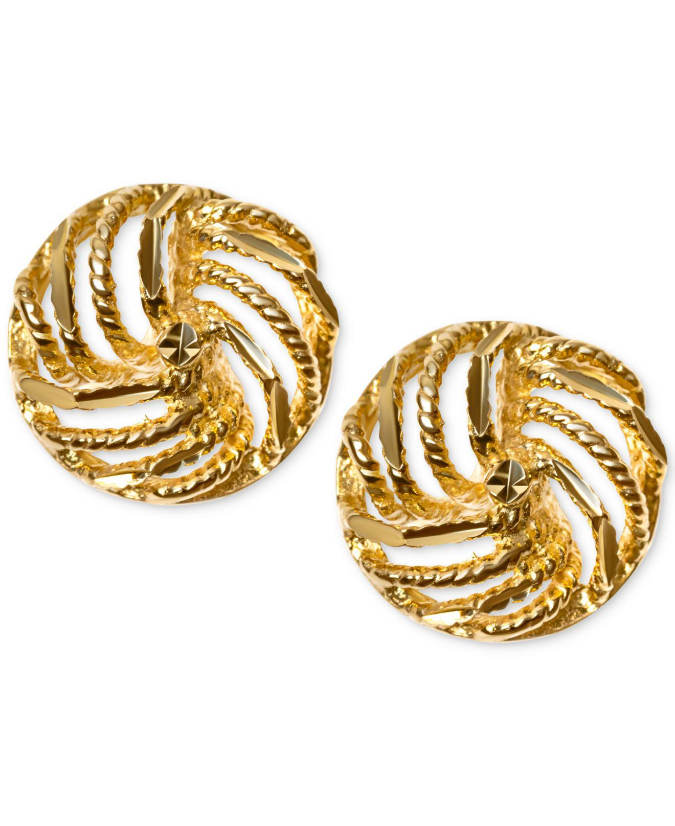 htm yellow earrings p stud classic gold cz product