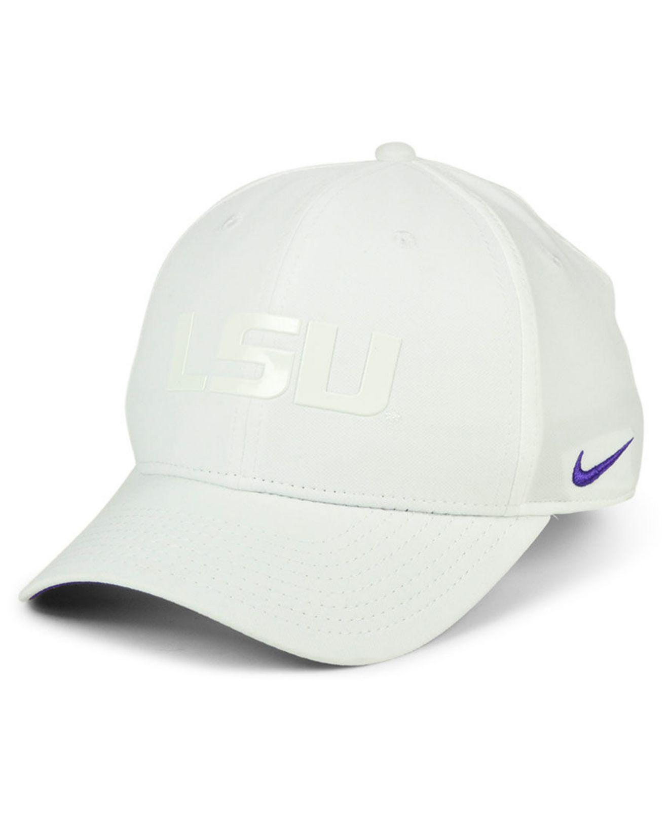 size 40 2e65b 76933 Lyst - Nike Lsu Tigers Col Cap in White for Men