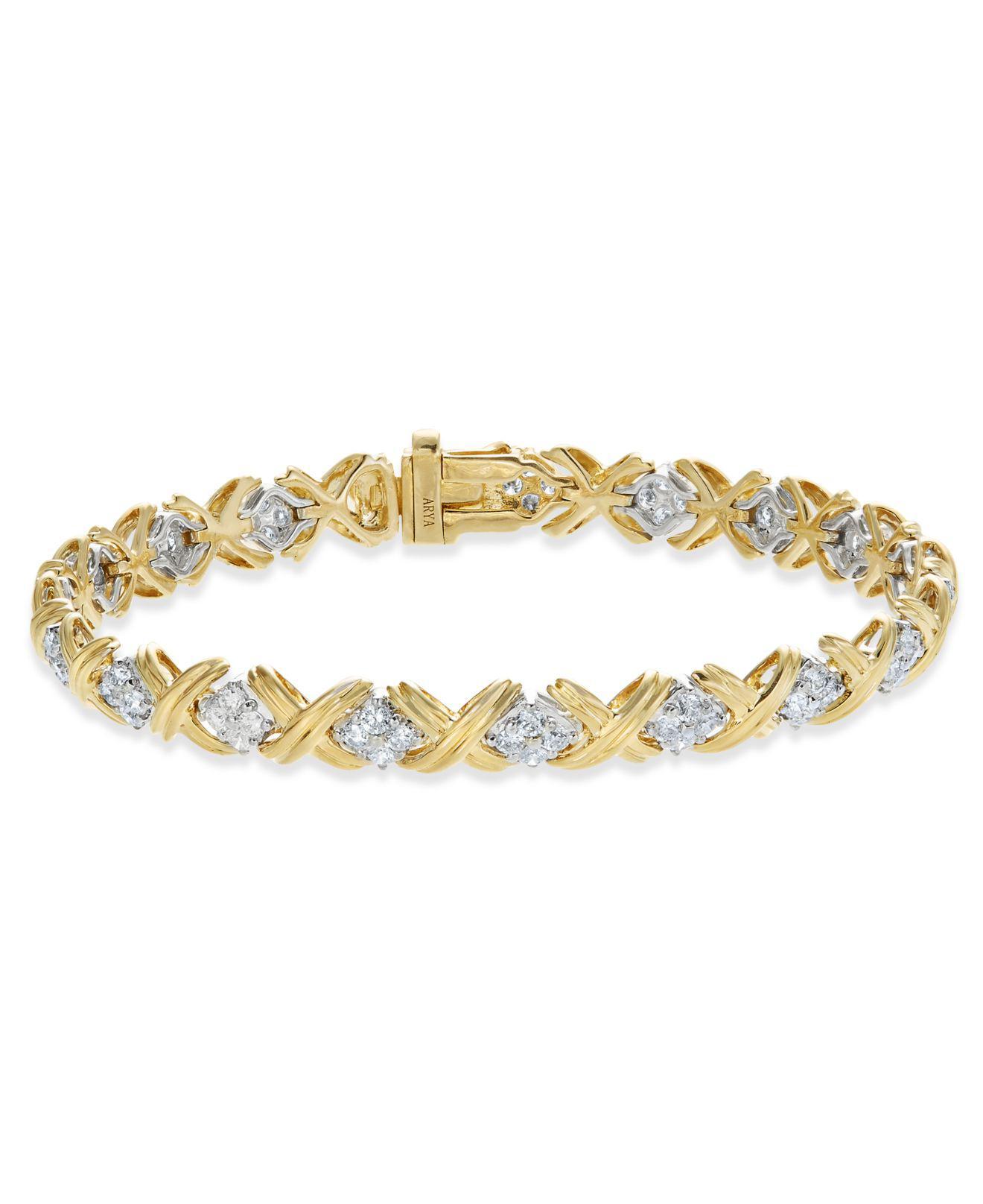 Fine Jewelry 1 CT. T.W. Diamond 10K White Gold X-Link Bracelet oYXyT