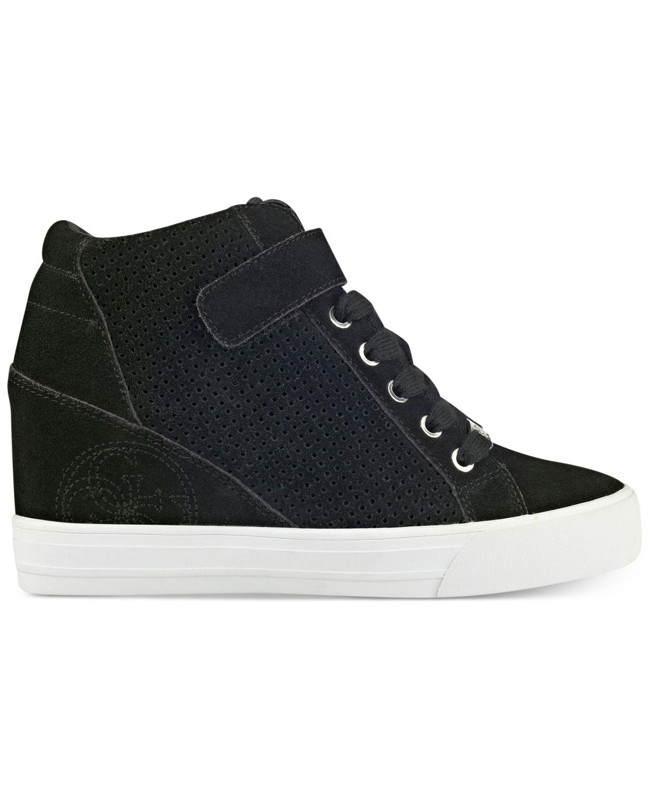 ac4791c6f5d Lyst - Guess Women s Decia Wedge Sneakers in Black