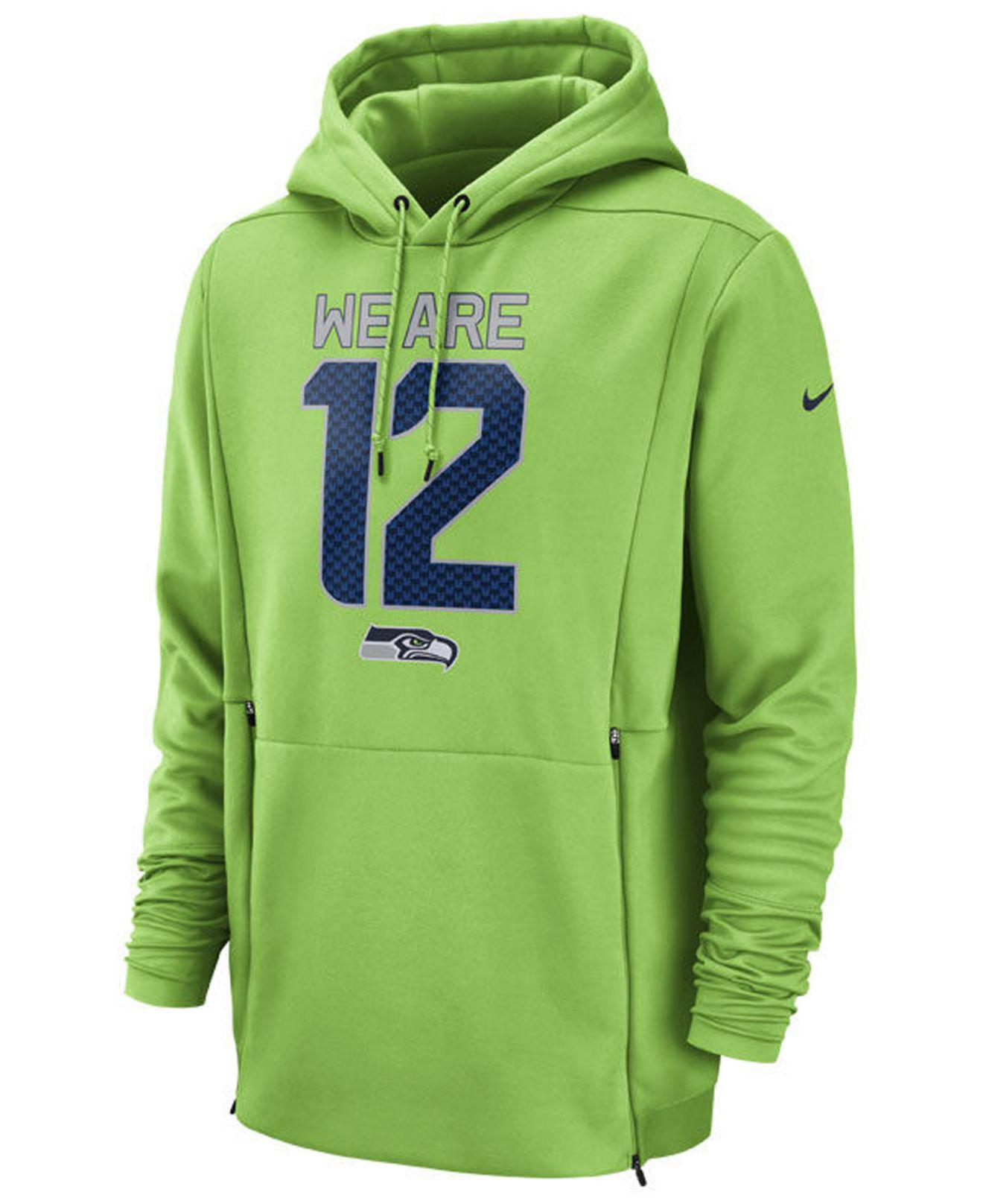 984f1e4c0fe Nike Seattle Seahawks Sideline Player Local Therma Hoodie in Green ...