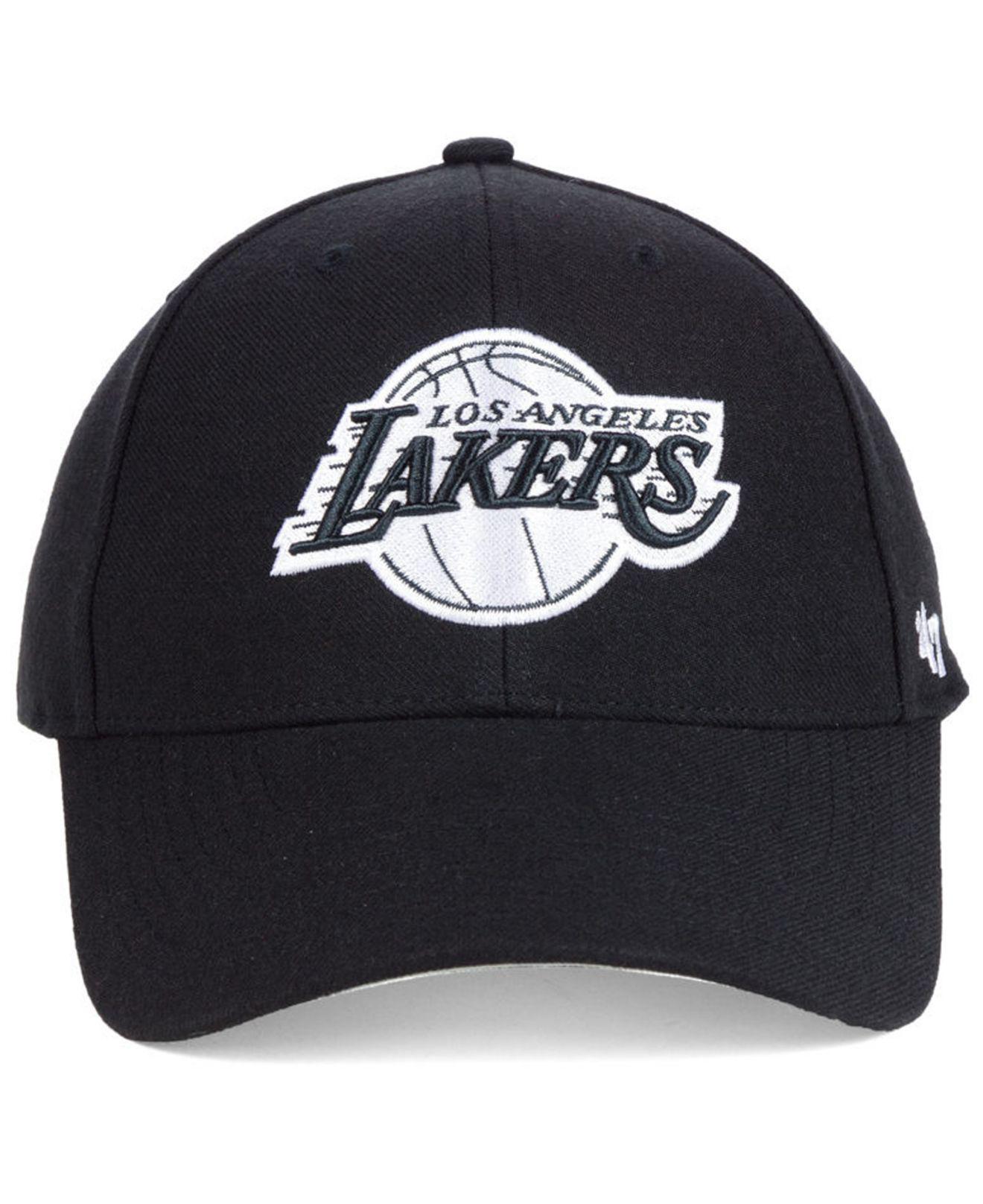 ed897cc9ece Lyst - 47 Brand Los Angeles Lakers Black White Mvp Cap in Black for Men