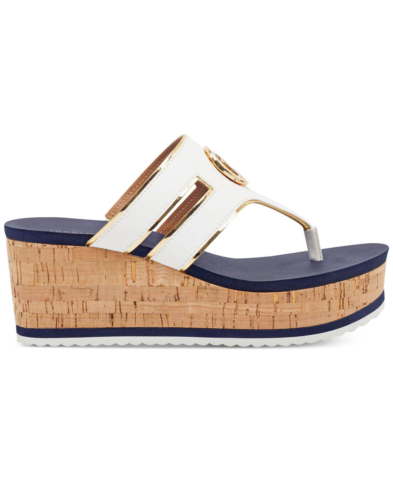 1011bbbaaab Gallery. Previously sold at  Macy s · Women s White Platform Wedges Women s Thong  Sandals ...