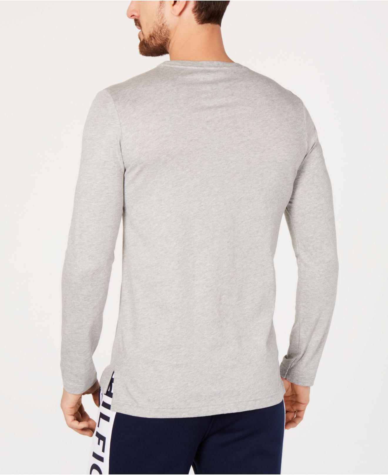 88e915cf Lyst - Tommy Hilfiger Modern Essentials Logo-stripe T-shirt in Gray for Men