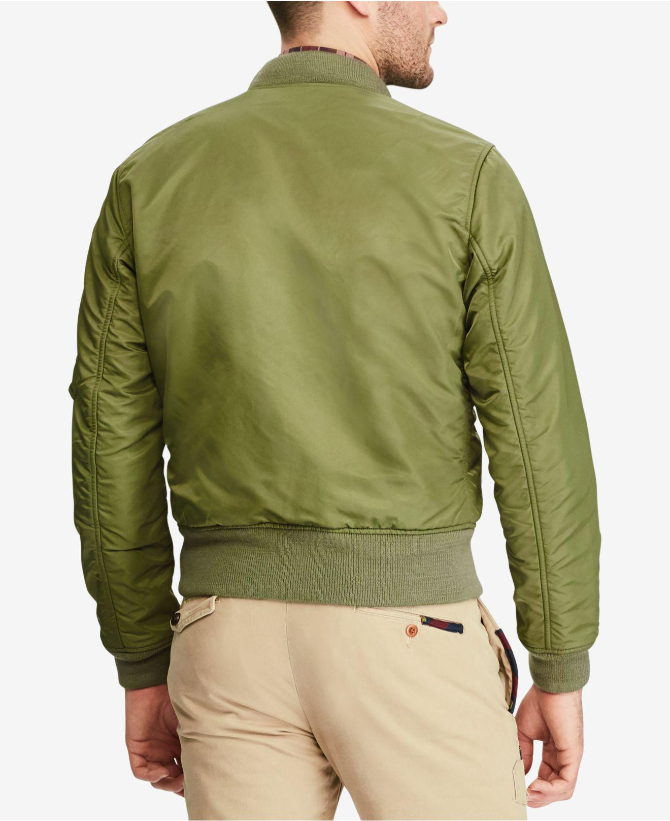 a1f98c3890 Lyst - Polo Ralph Lauren Men s Iconic Ma-1 Bomber Jacket in Green ...