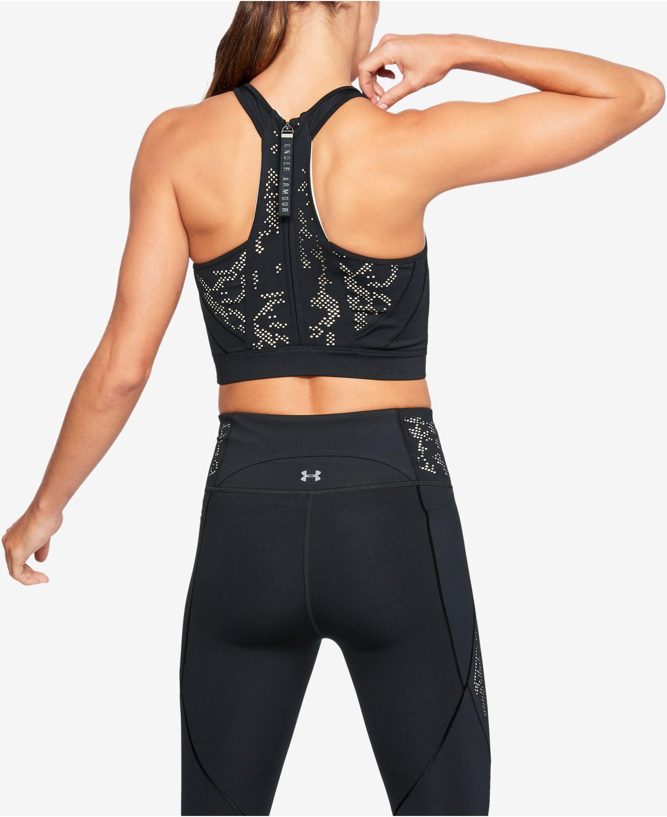 9a4704c2266f9 Lyst - Under Armour Misty Copeland Printed Racerback Cropped Tank Top in  Black - Save 33%