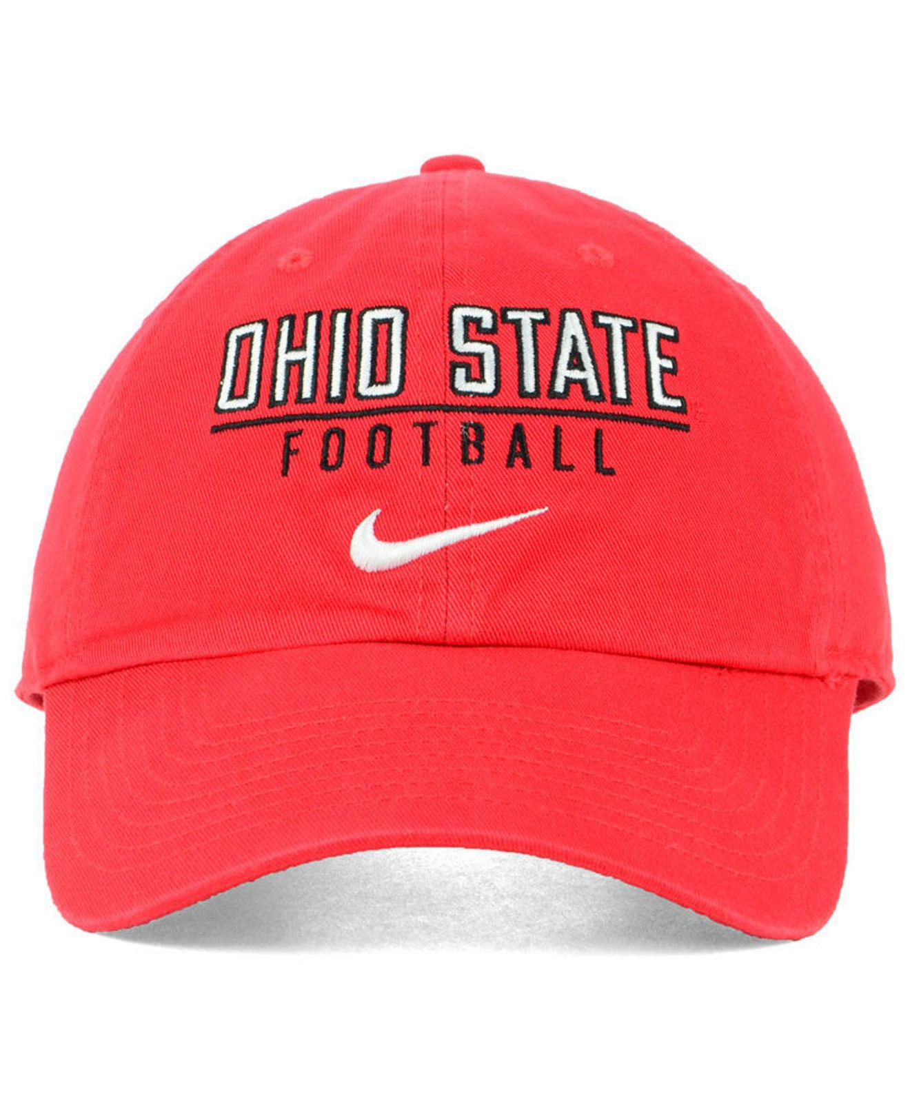 new styles dc847 0bef1 Lyst - Nike Ohio State Buckeyes Campus Sport Adjustable Cap in Red for Men