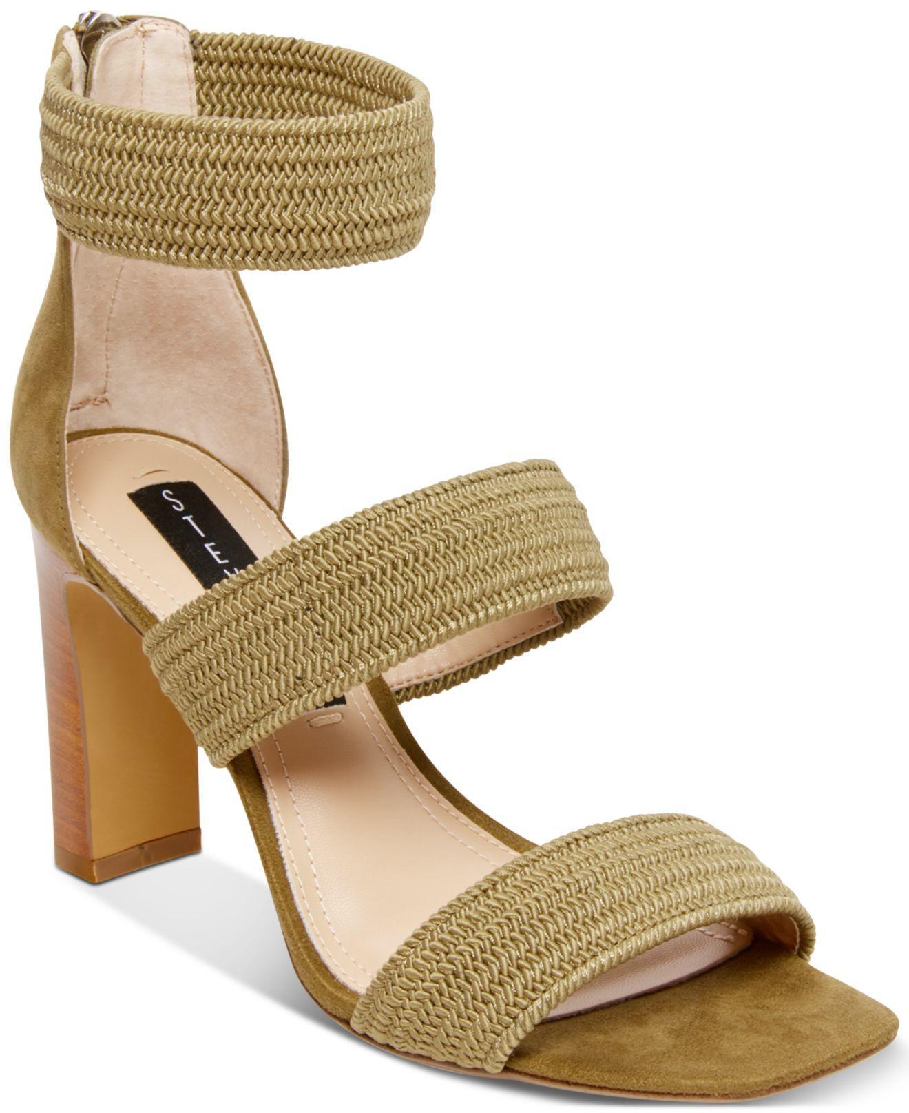f0b3357c6fbf Lyst - Steven by Steve Madden Jelly Stretch Dress Sandals in Green