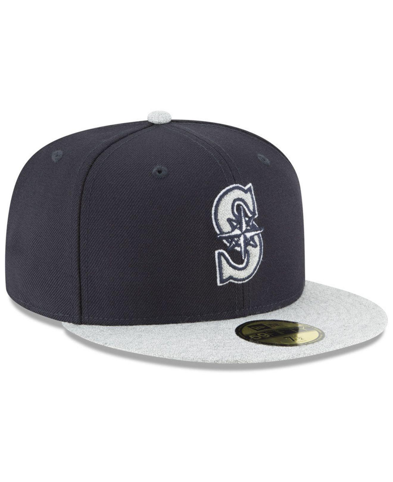 online retailer 66785 03d5c ... canada seattle mariners pop color 59fifty fitted cap for men lyst. view  fullscreen 7577a c6ef3