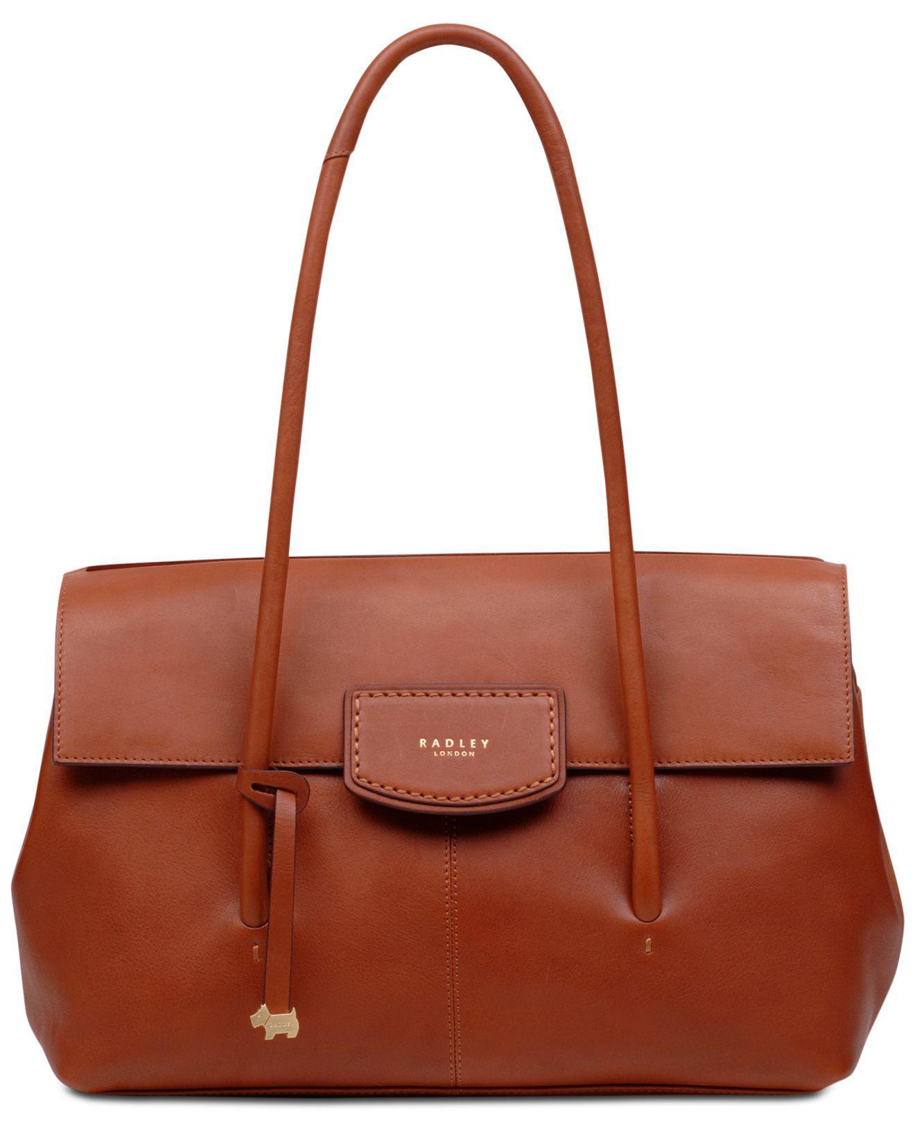 d68b4bda68 Radley - Brown Burnham Beeches Flap Leather Shoulder Bag - Lyst. View  fullscreen