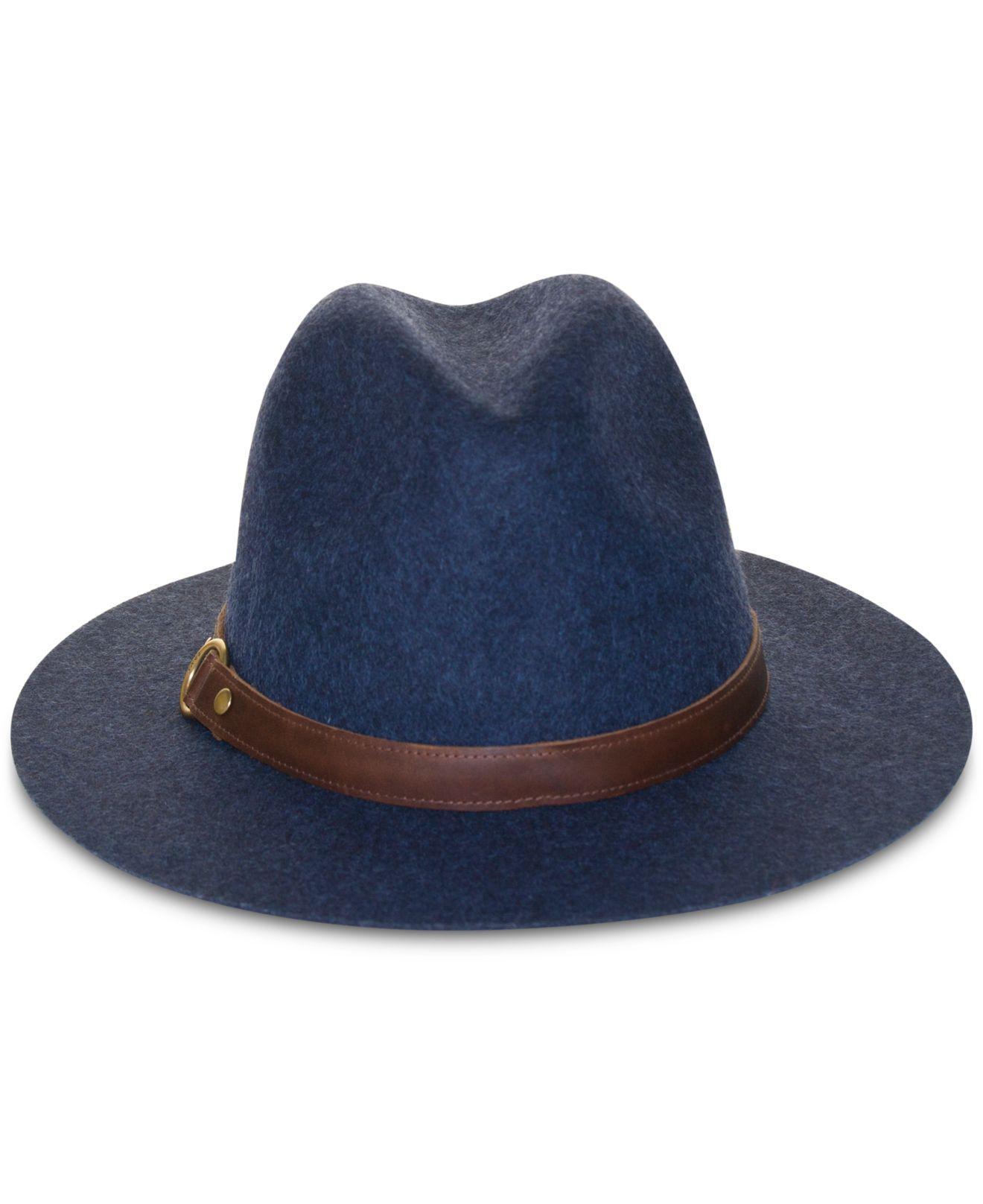 Lyst - Frye Wool Felt Harness Panama Hat in Blue 6f75902ec637