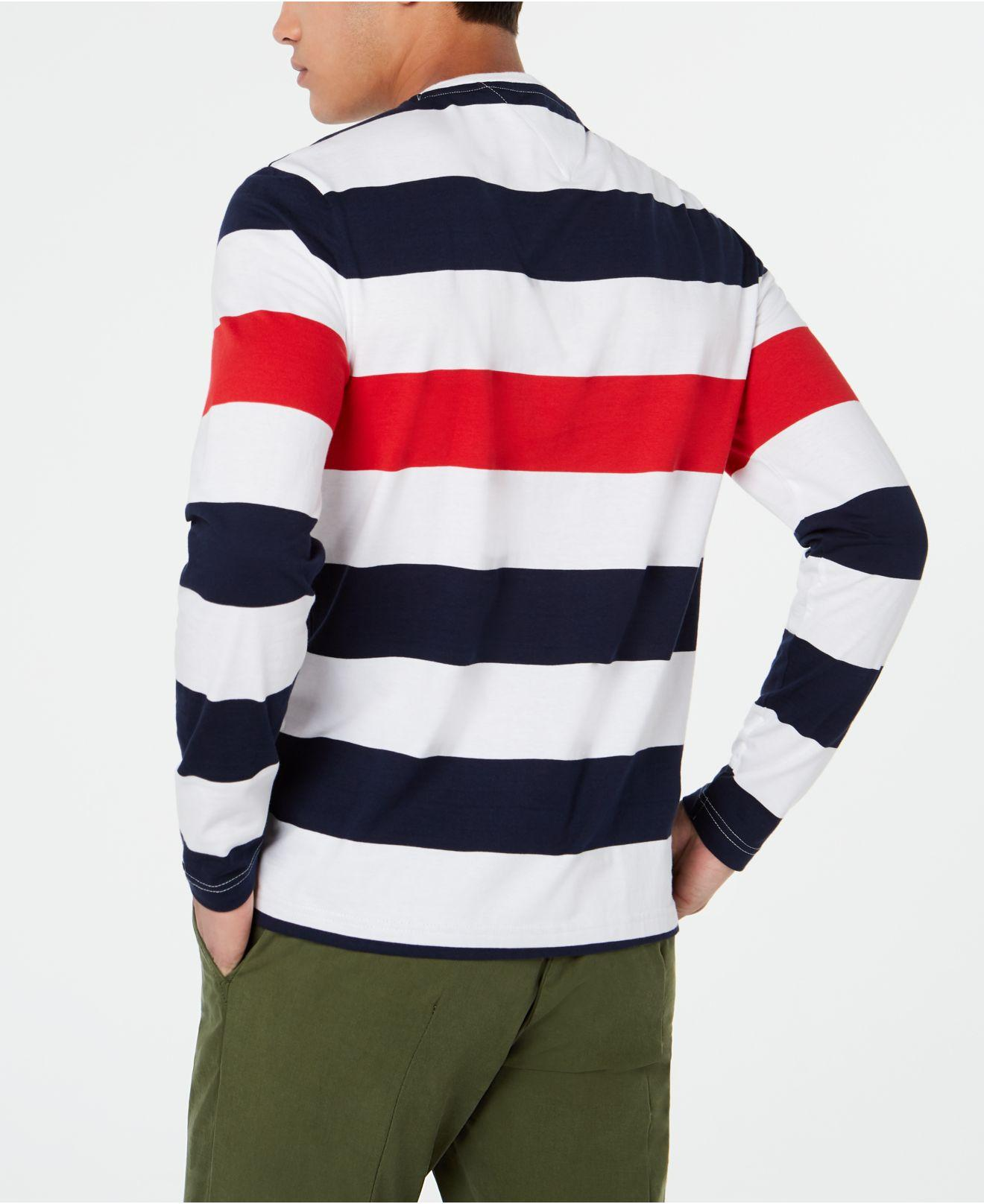 92e30f17ac4369 Lyst - Tommy Hilfiger Long-sleeve Striped T-shirt