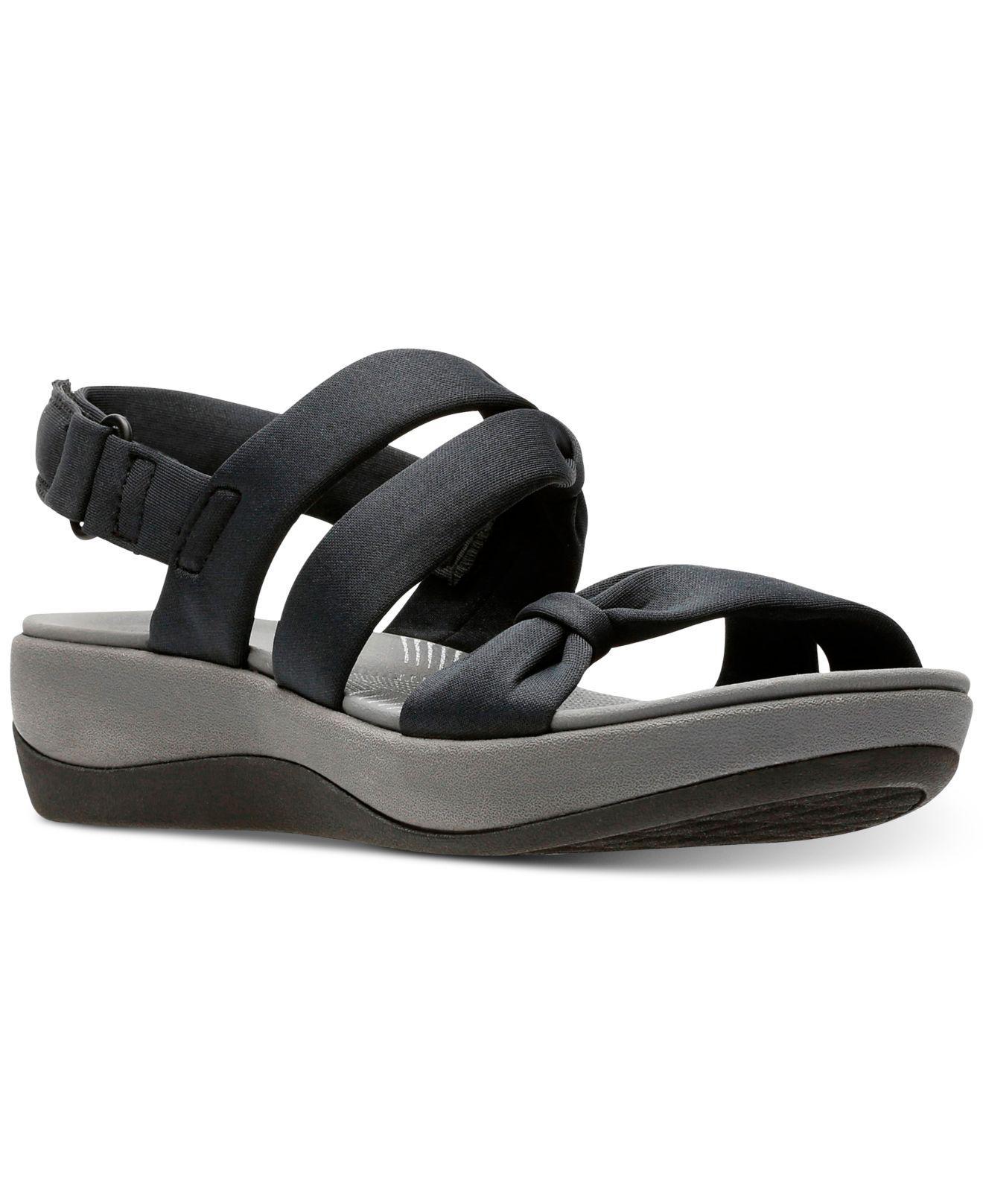 87969be6c73 Lyst - Clarks Cloudsteppers Arla Mae Wedge Sandals in Black