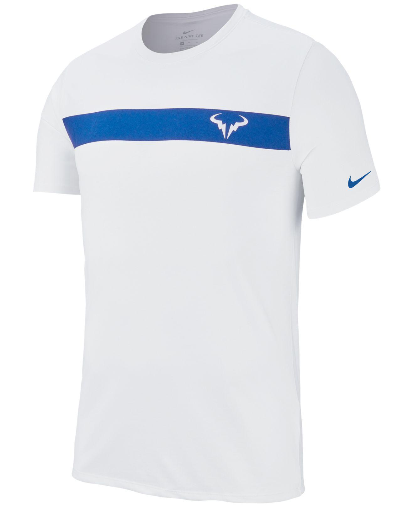 495c6ad1 Lyst - Nike Court Dry Rafa-logo T-shirt in White for Men