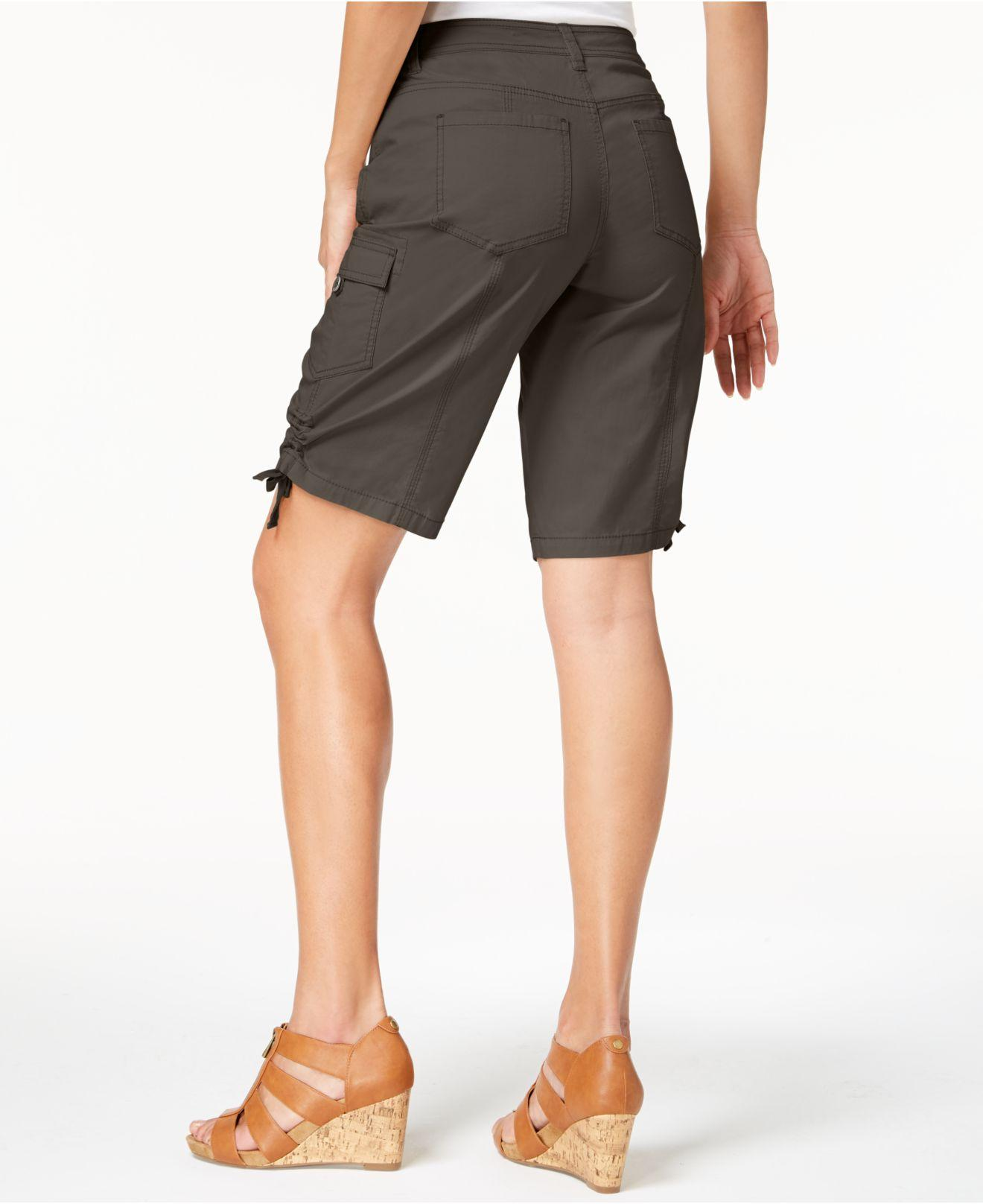 715a520425eca Lyst - Style   Co. Petite Cargo Shorts