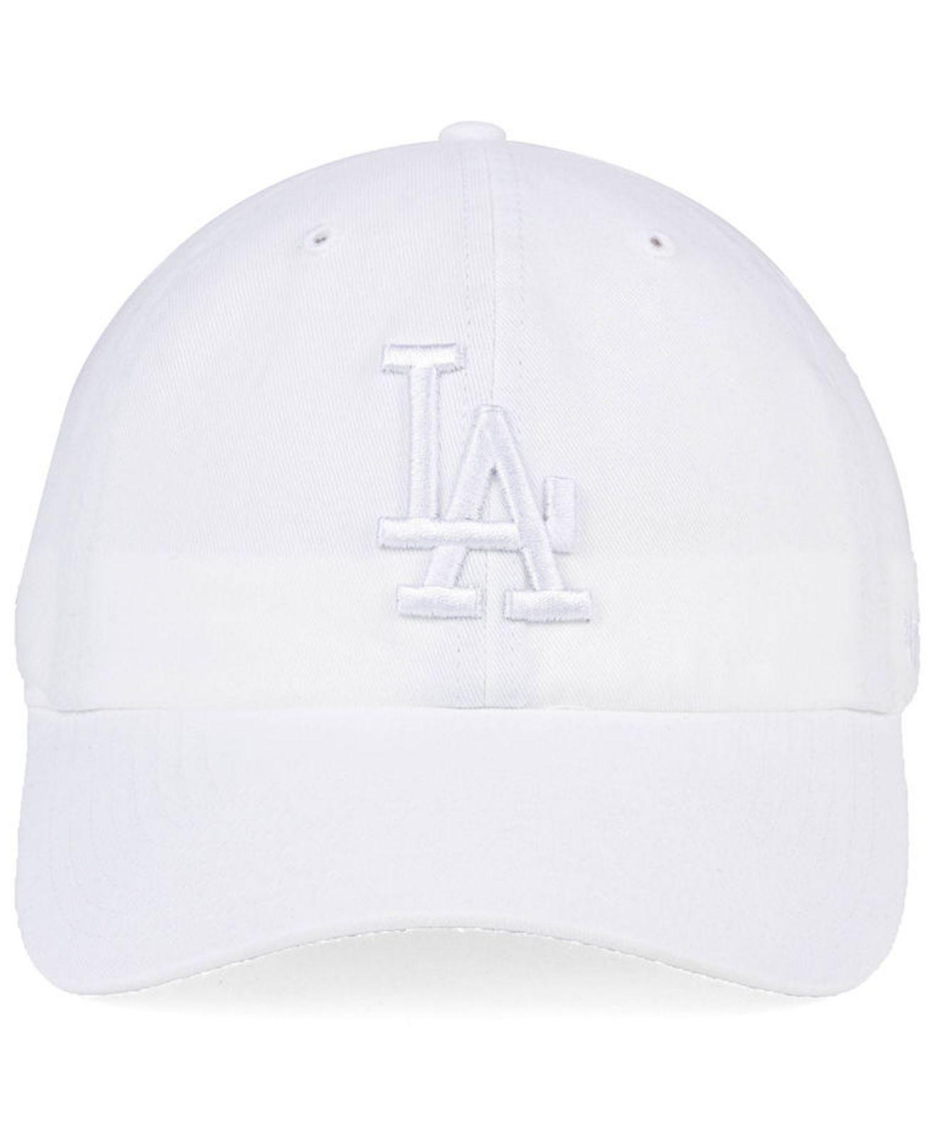7f0ad717 ... purchase top quality lyst 47 brand los angeles dodgers white white clean  up cap in white