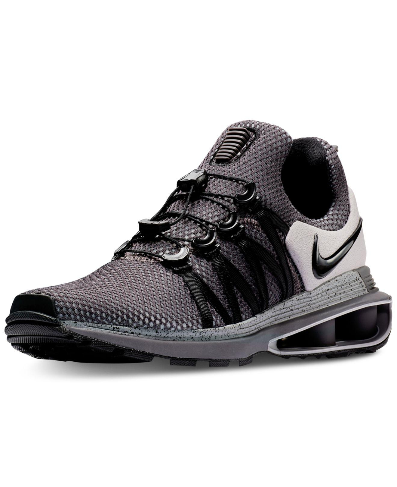 on sale 31239 959e1 Lyst - Nike Shox Gravity Casual Sneakers From Finish Line in Black ...